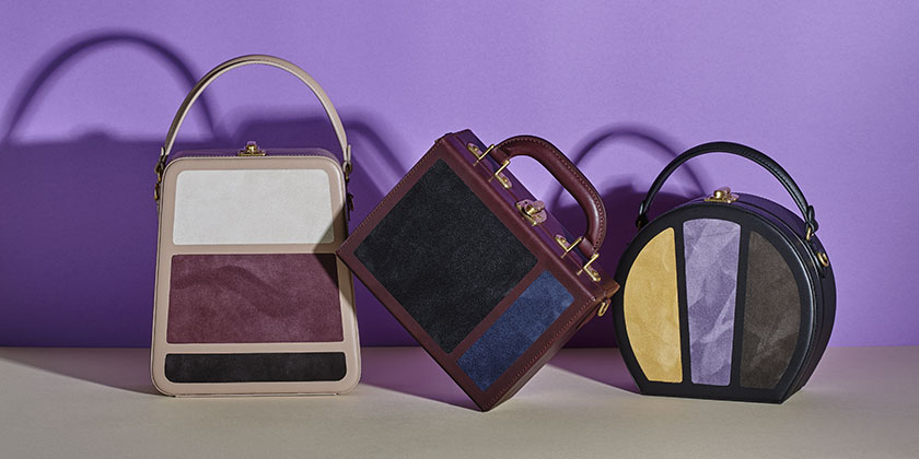 The latest patchwork Bertoncina bags from Bertoni 1949 Autumn Winter 2017 collection