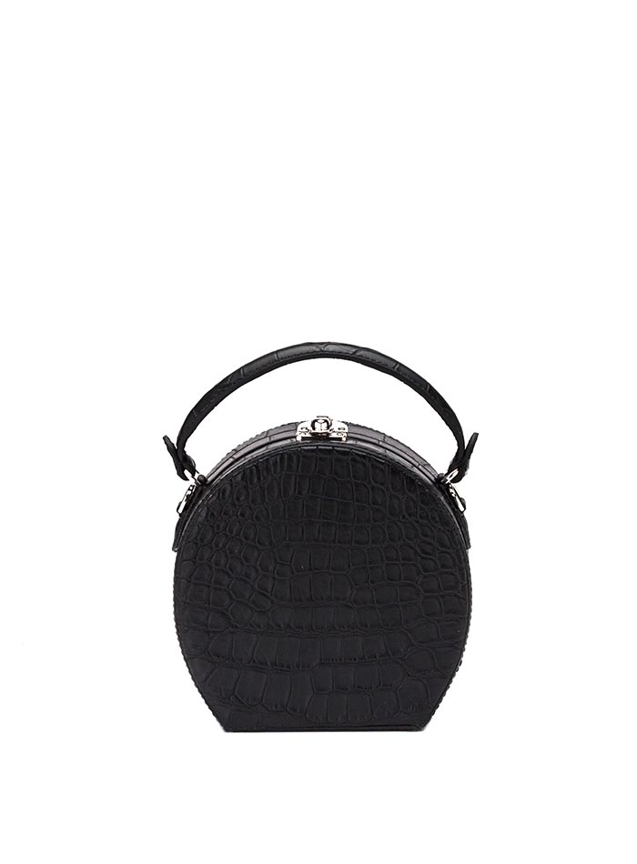 The black alligator Regular Bertoncina bag by Bertoni 1949