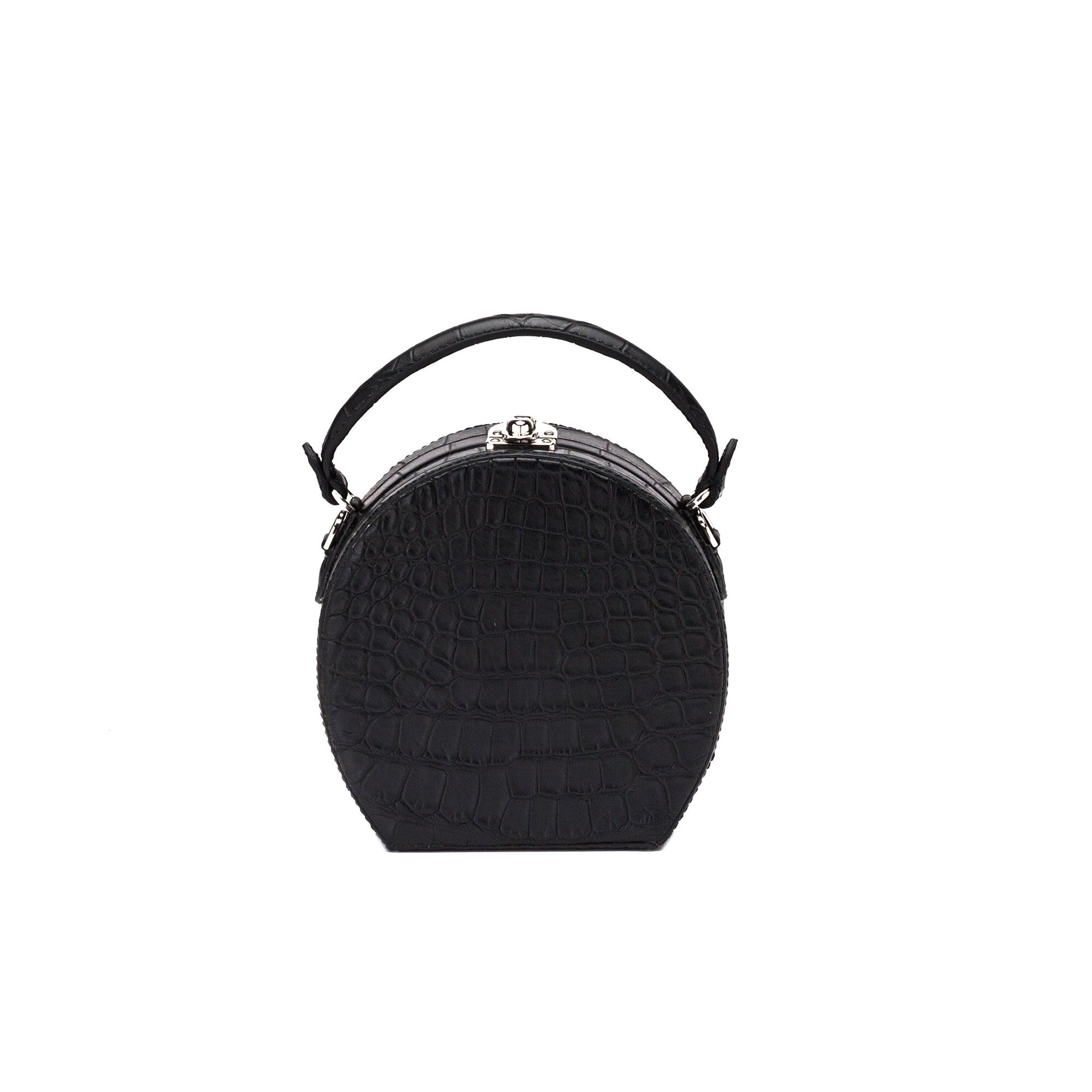 The black alligator Regular Bertoncina bag by Bertoni 1949 01