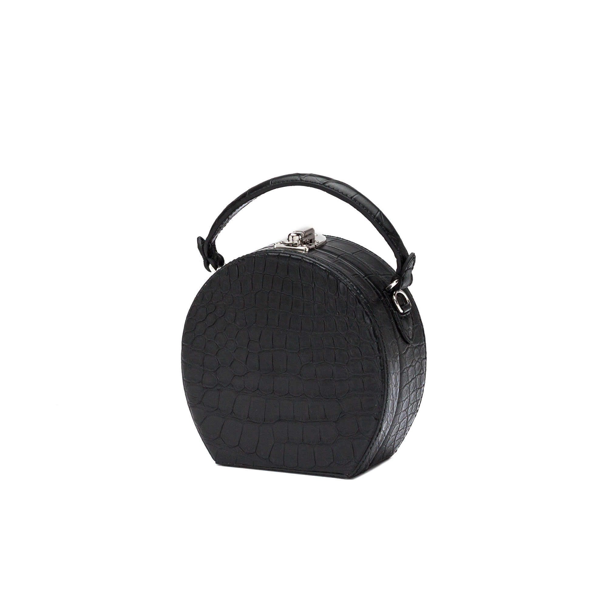 The black alligator Regular Bertoncina bag by Bertoni 1949 02