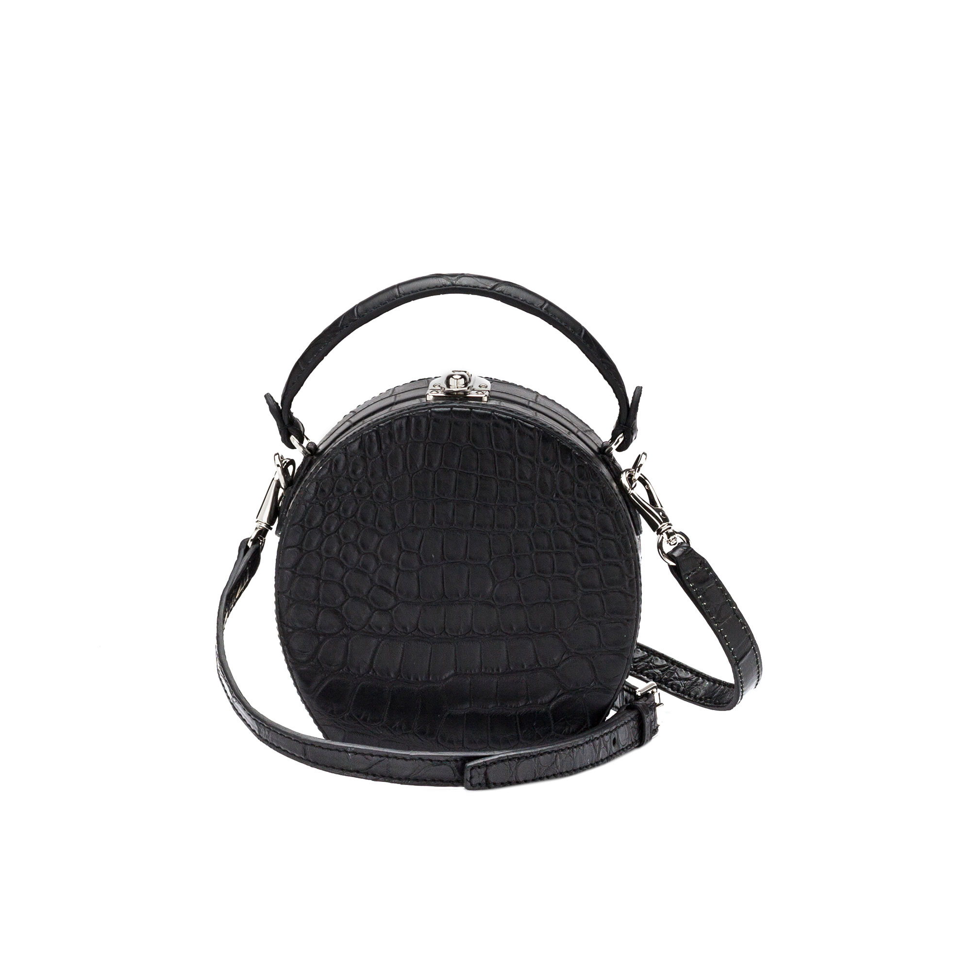 The black alligator Regular Bertoncina bag by Bertoni 1949 03