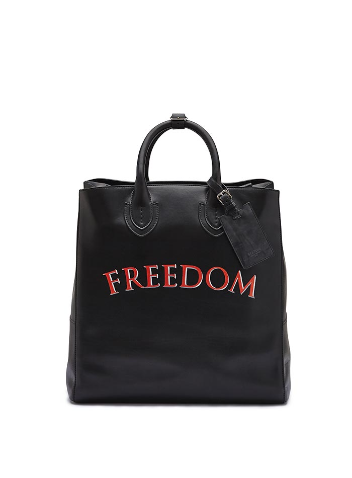 The black freedom french calf Pluto Tote Large by Bertoni 1949