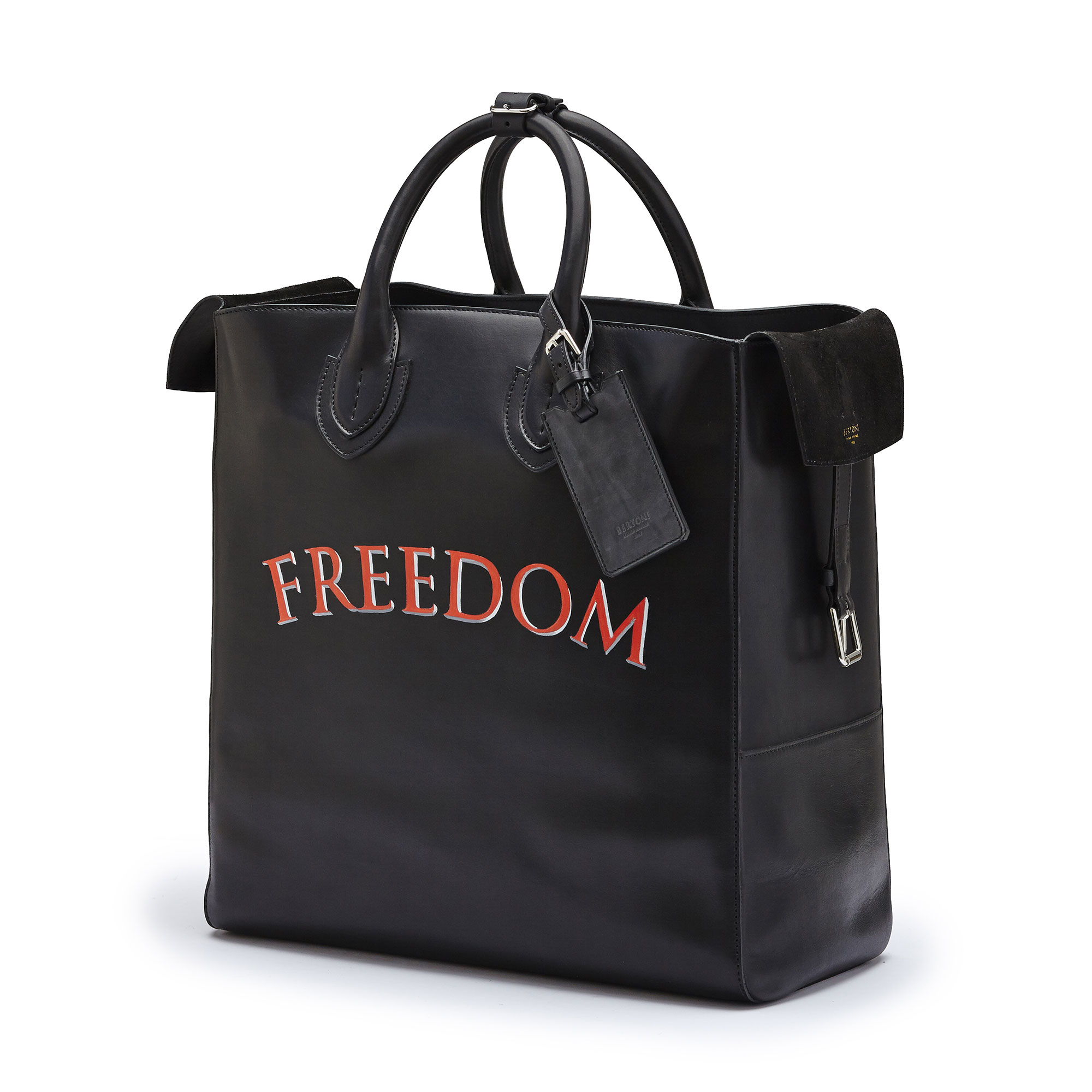 The black freedom french calf Pluto Tote Large by Bertoni 1949 04