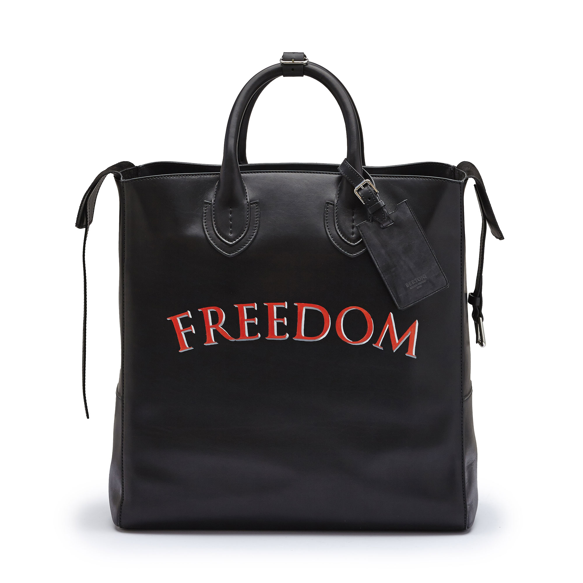 The black freedom french calf Pluto Tote Large by Bertoni 1949 03