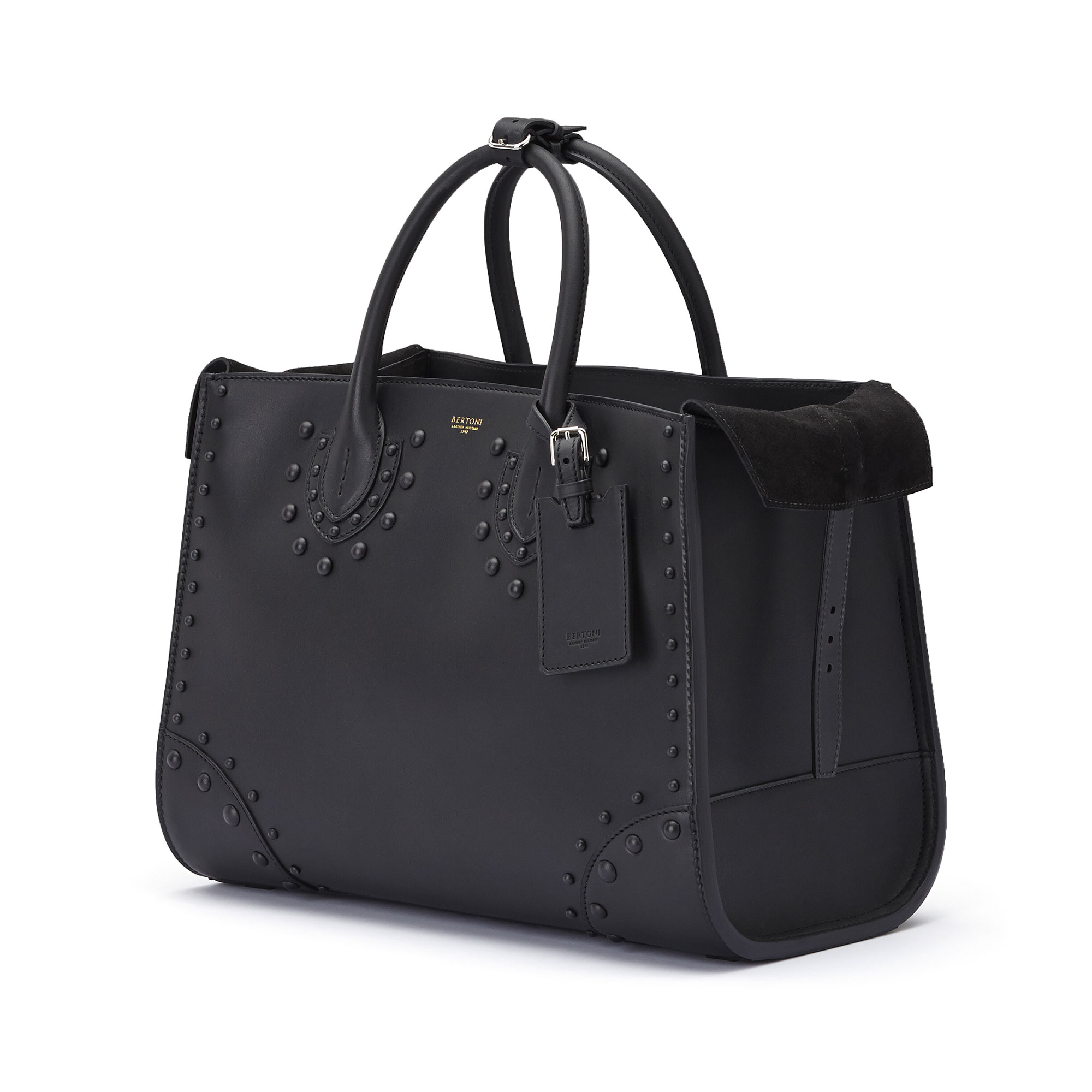 The black french calf Darcy large bag by Bertoni 1949 04