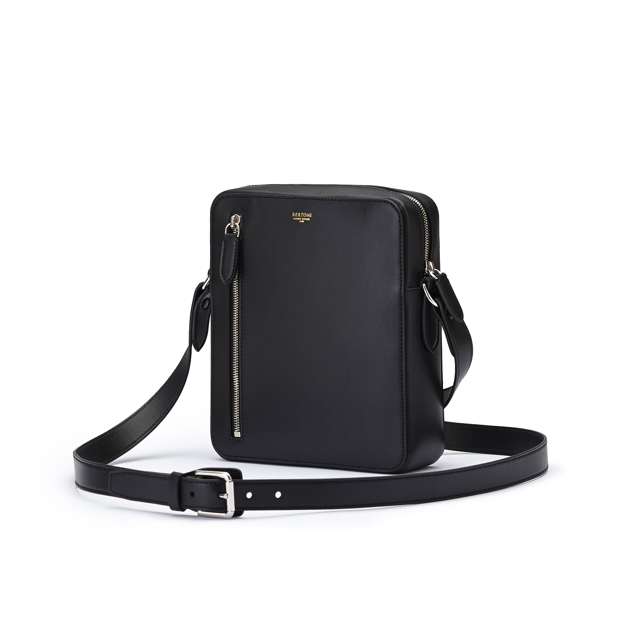 The black french calf Man Bag by Bertoni 1949 03