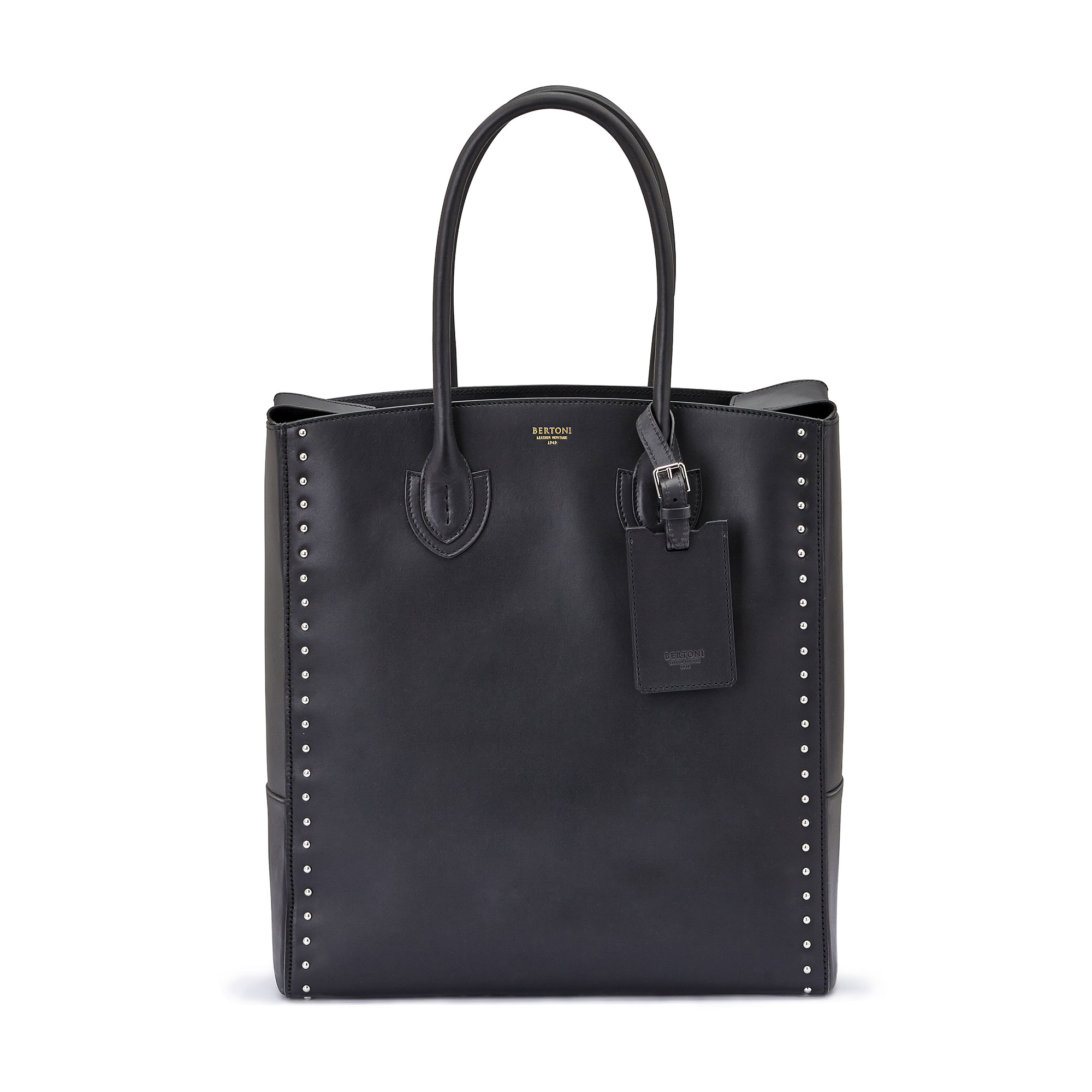 The black french calf Pluto Tote Large by Bertoni 1949 01