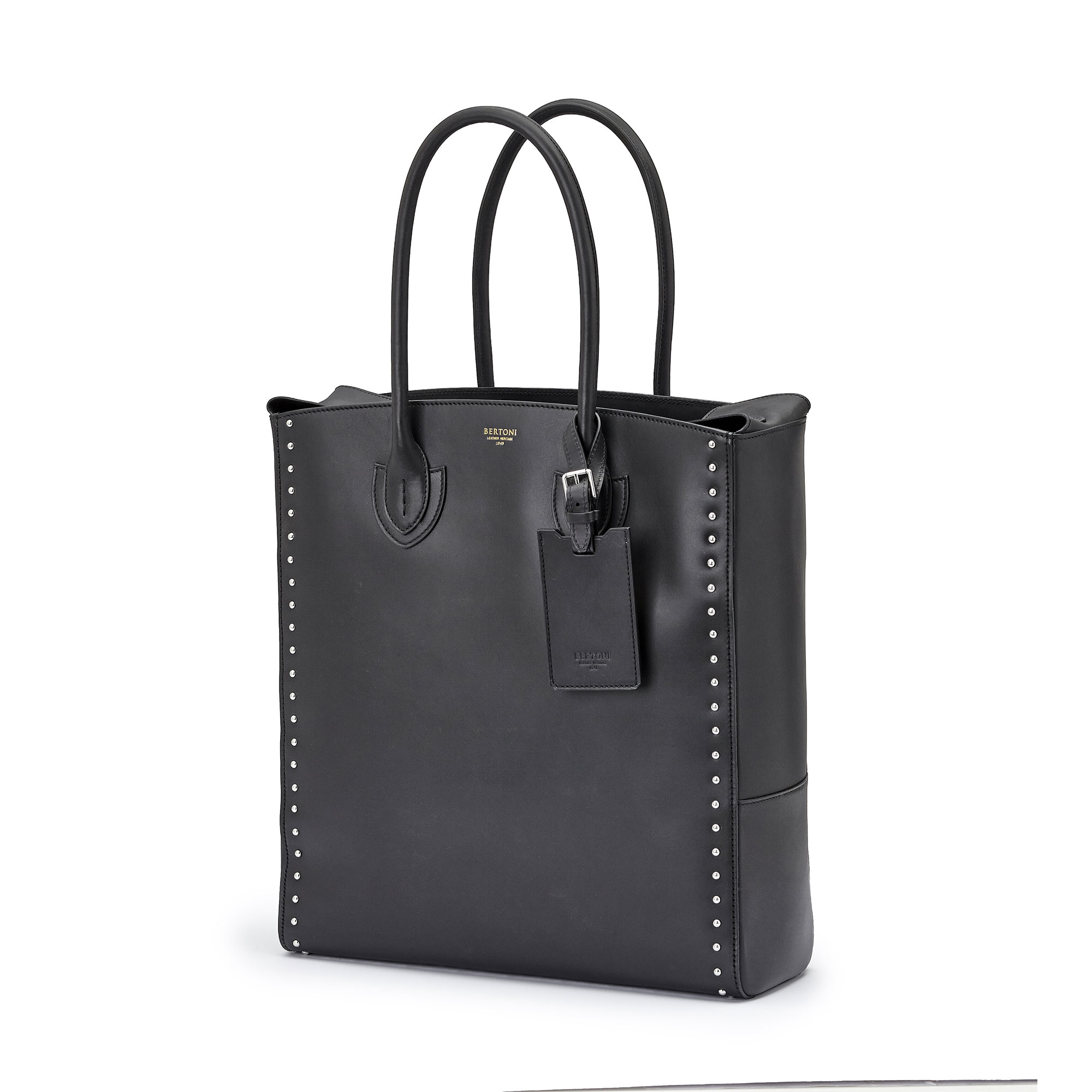 The black french calf Pluto Tote Large by Bertoni 1949 02