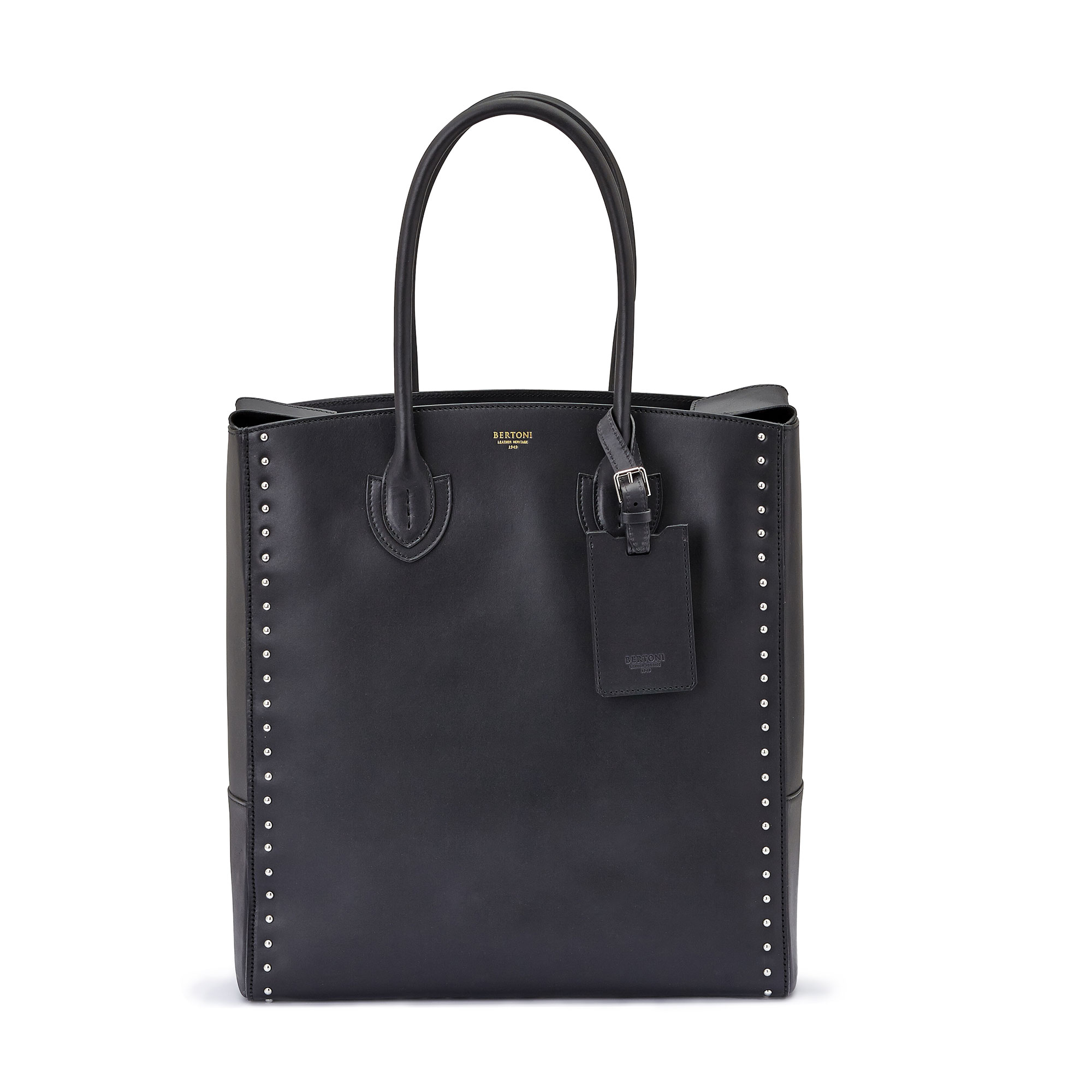 The black french calf Pluto Tote Medium by Bertoni 1949 01