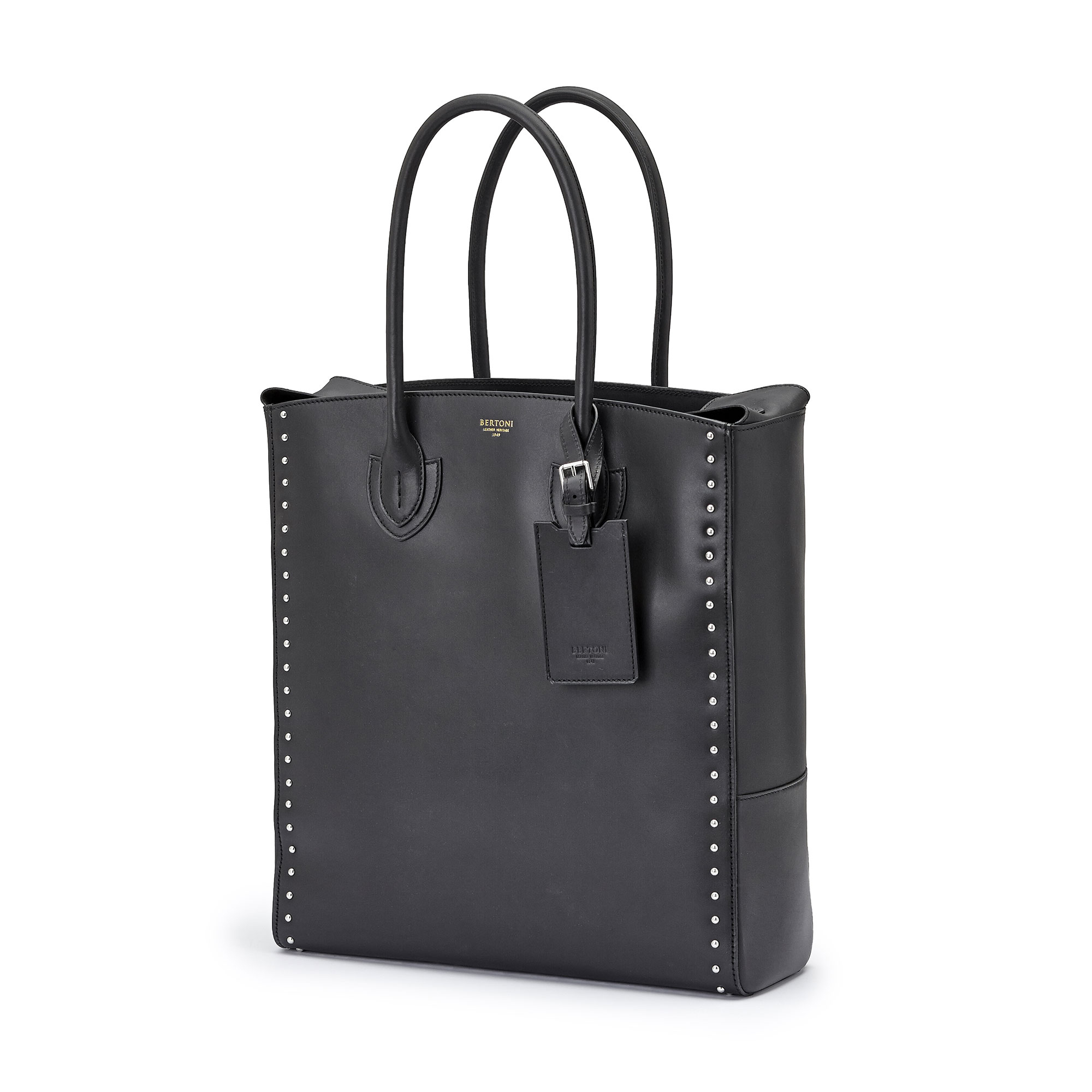 The black french calf Pluto Tote Medium by Bertoni 1949 02