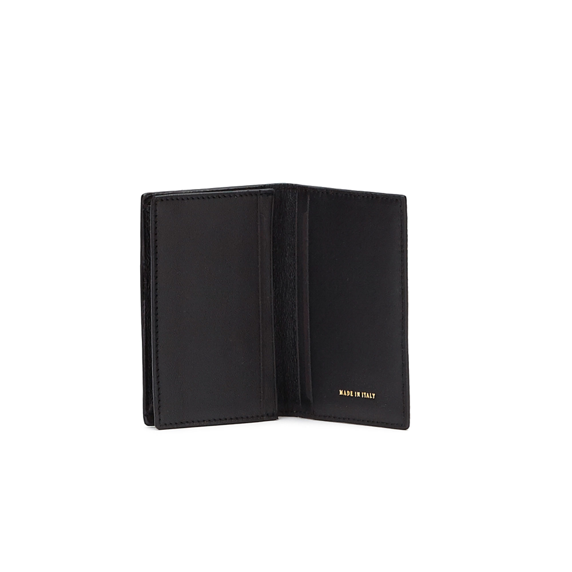 The black grain calf Business Card Holder by Bertoni 1949 02
