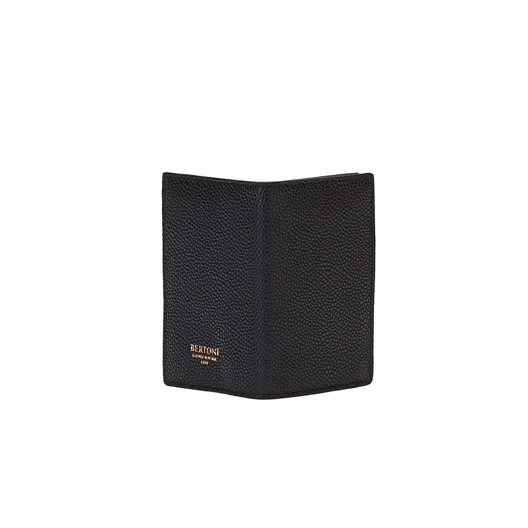 The black grain calf Business Card Holder by Bertoni 1949 03