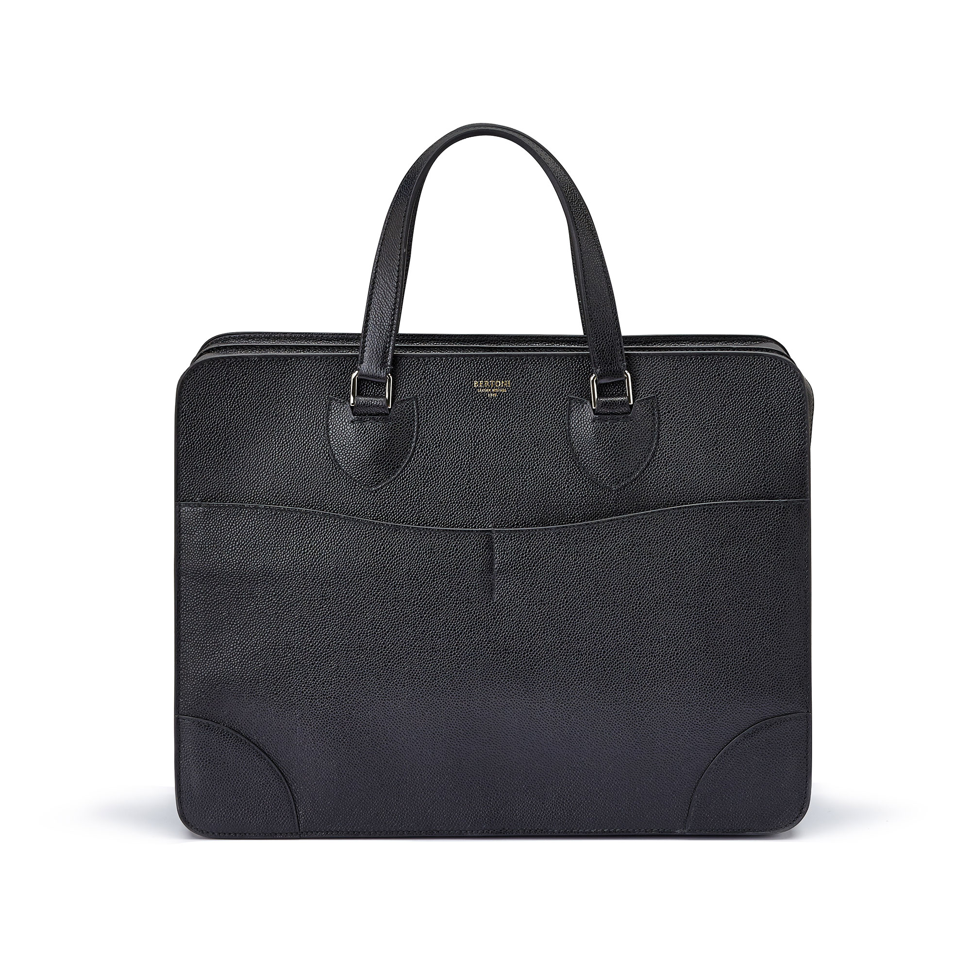 The black grain calf Double Handle 40 by Bertoni 1949 01