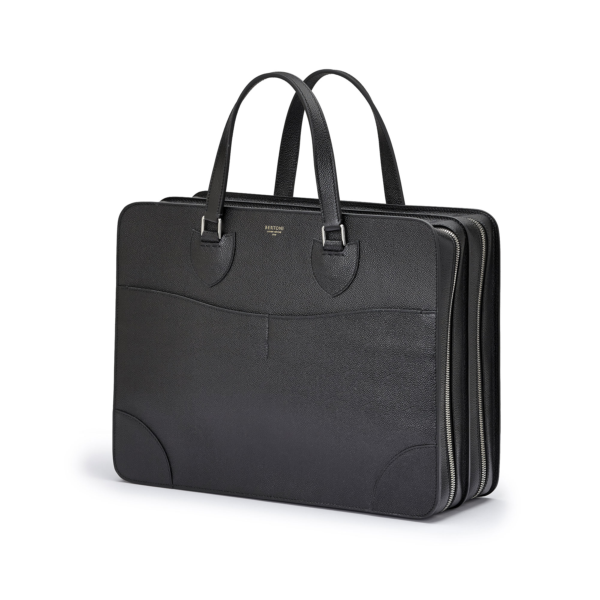 The black grain calf Double Handle 40 by Bertoni 1949 02