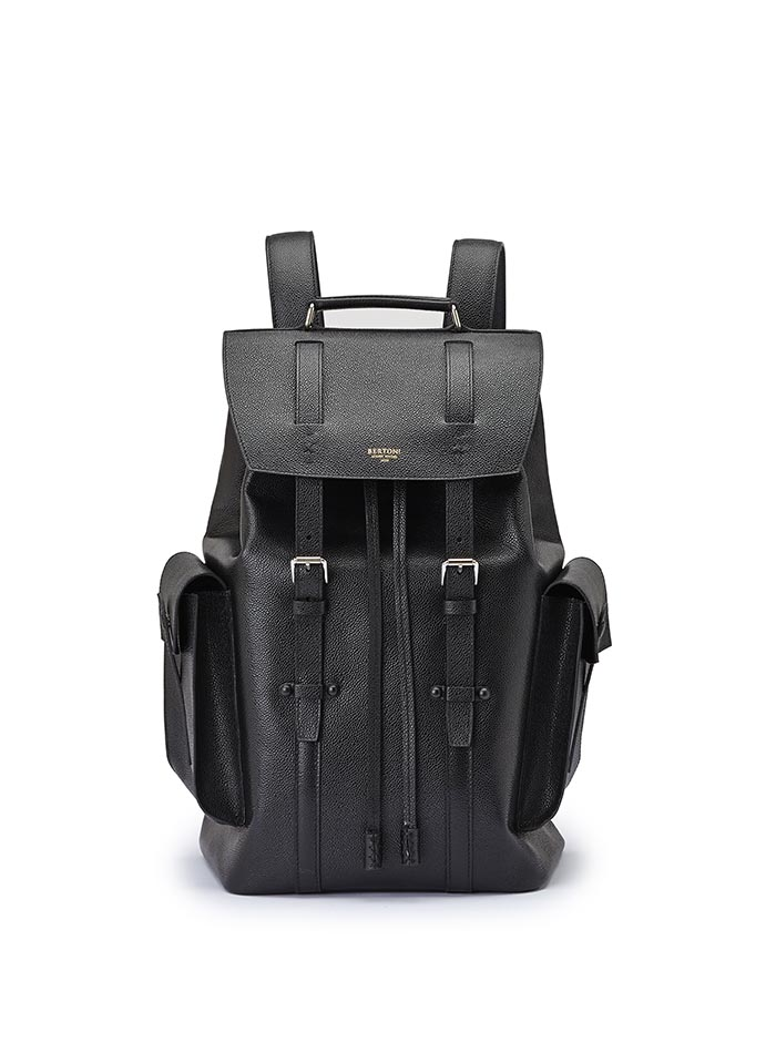 The alligator calf Traveller Backpack by Bertoni 1949