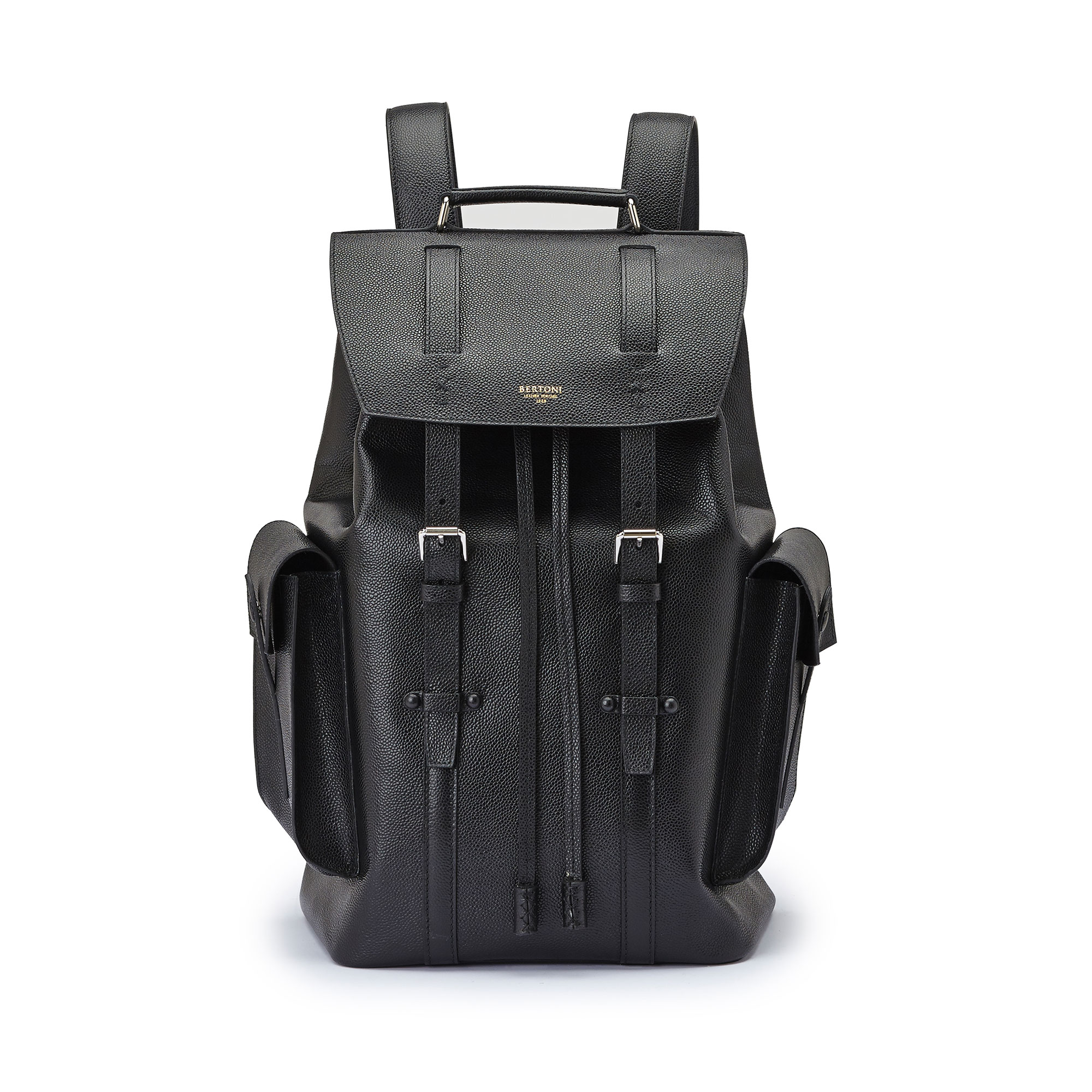 The alligator calf Traveller Backpack by Bertoni 1949 01