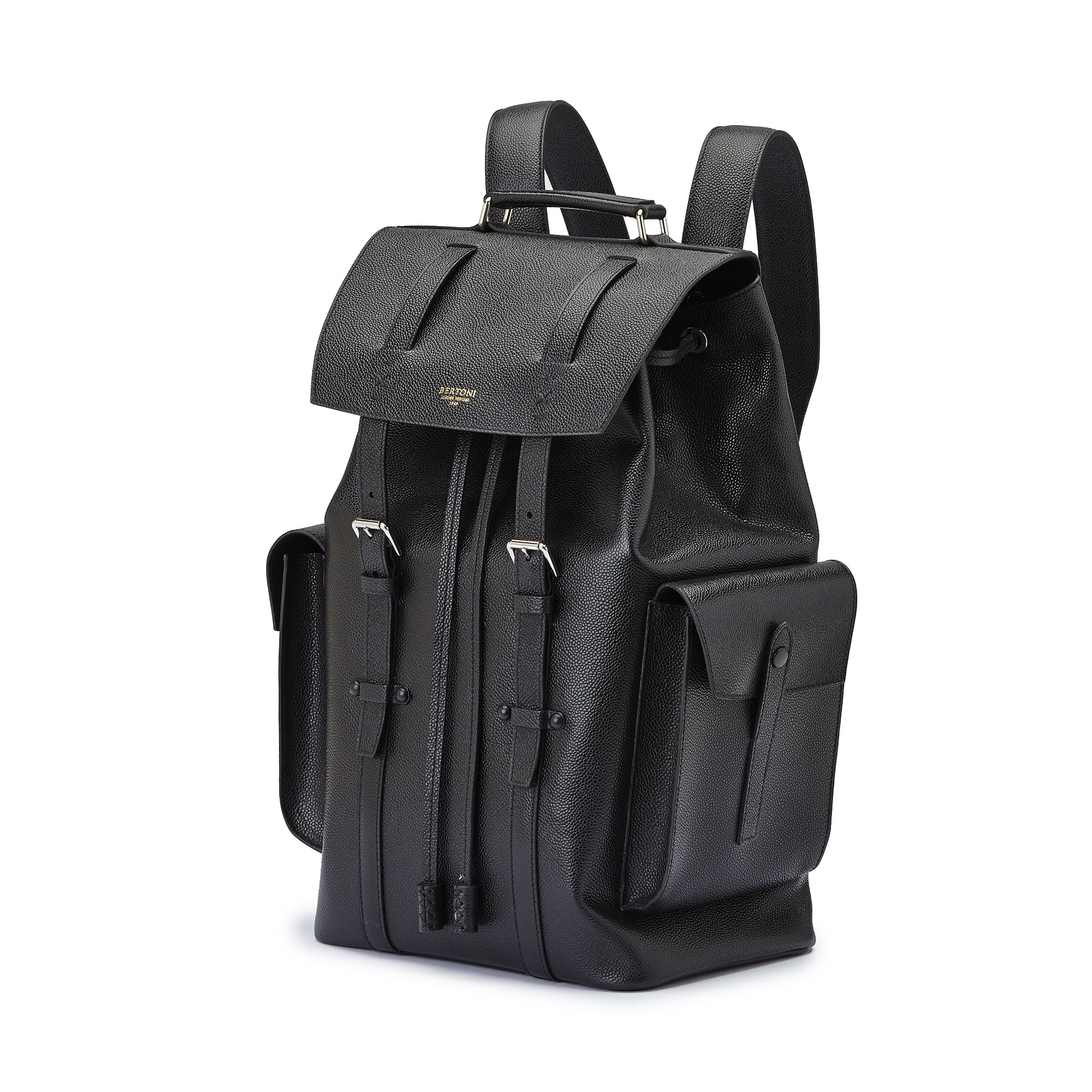 The alligator calf Traveller Backpack by Bertoni 1949 02