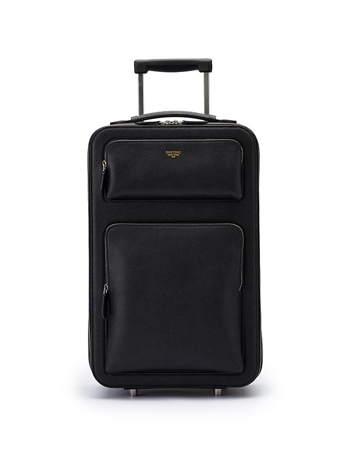 The black grain calf Zip Trolley by Bertoni 1949