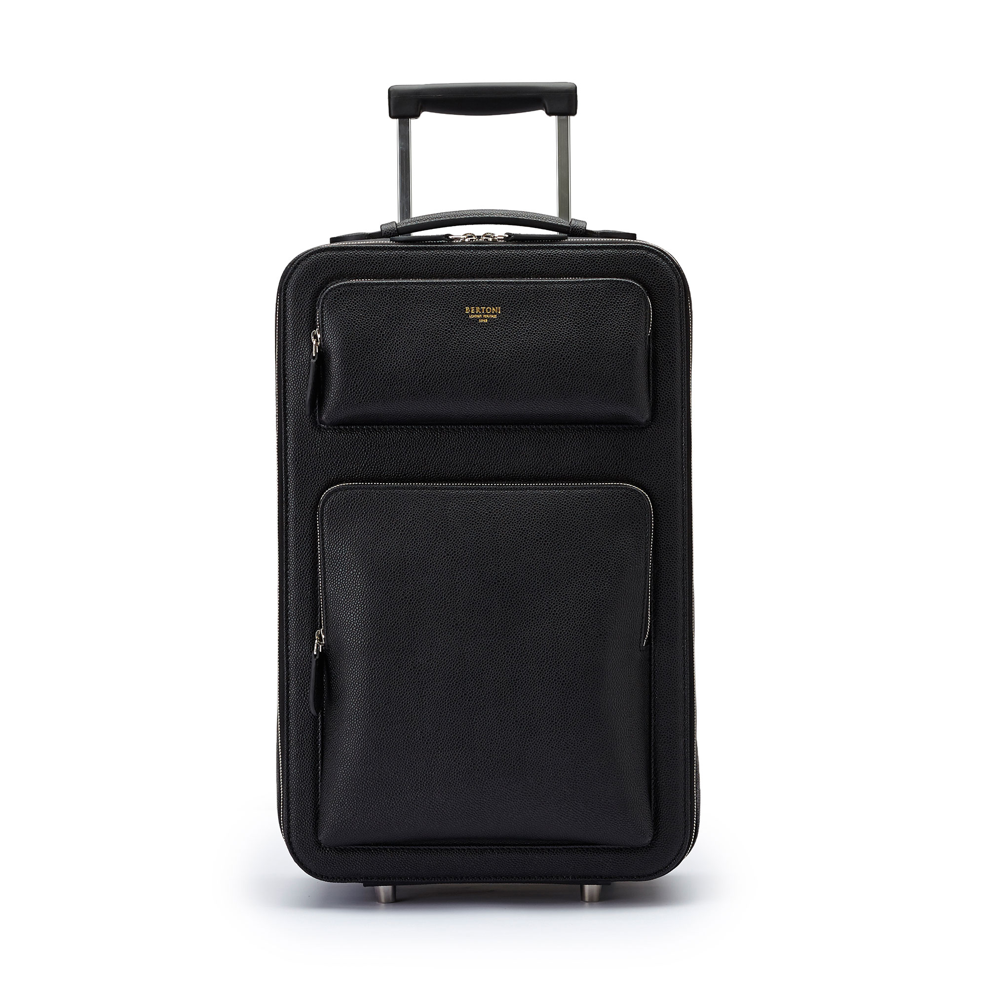 The black grain calf Zip Trolley by Bertoni 1949 01