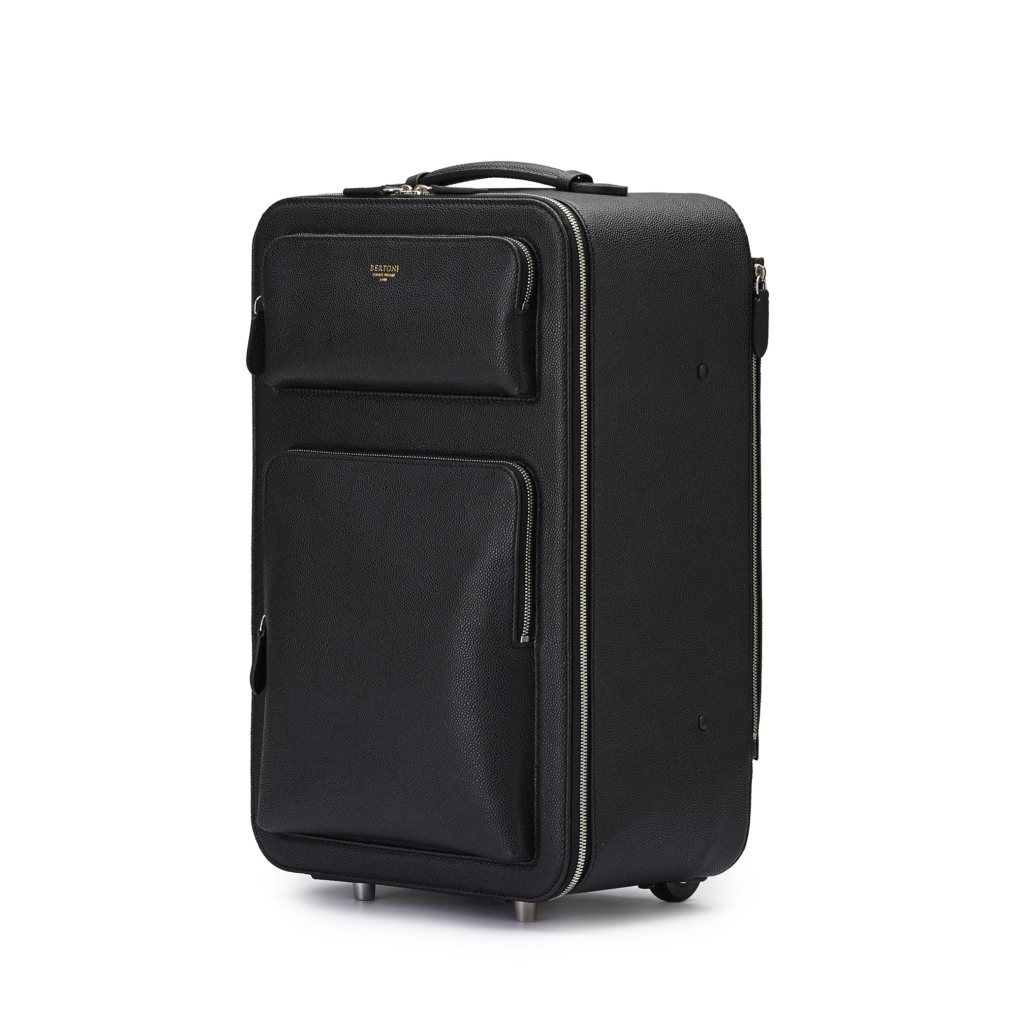 The black grain calf Zip Trolley by Bertoni 1949 02