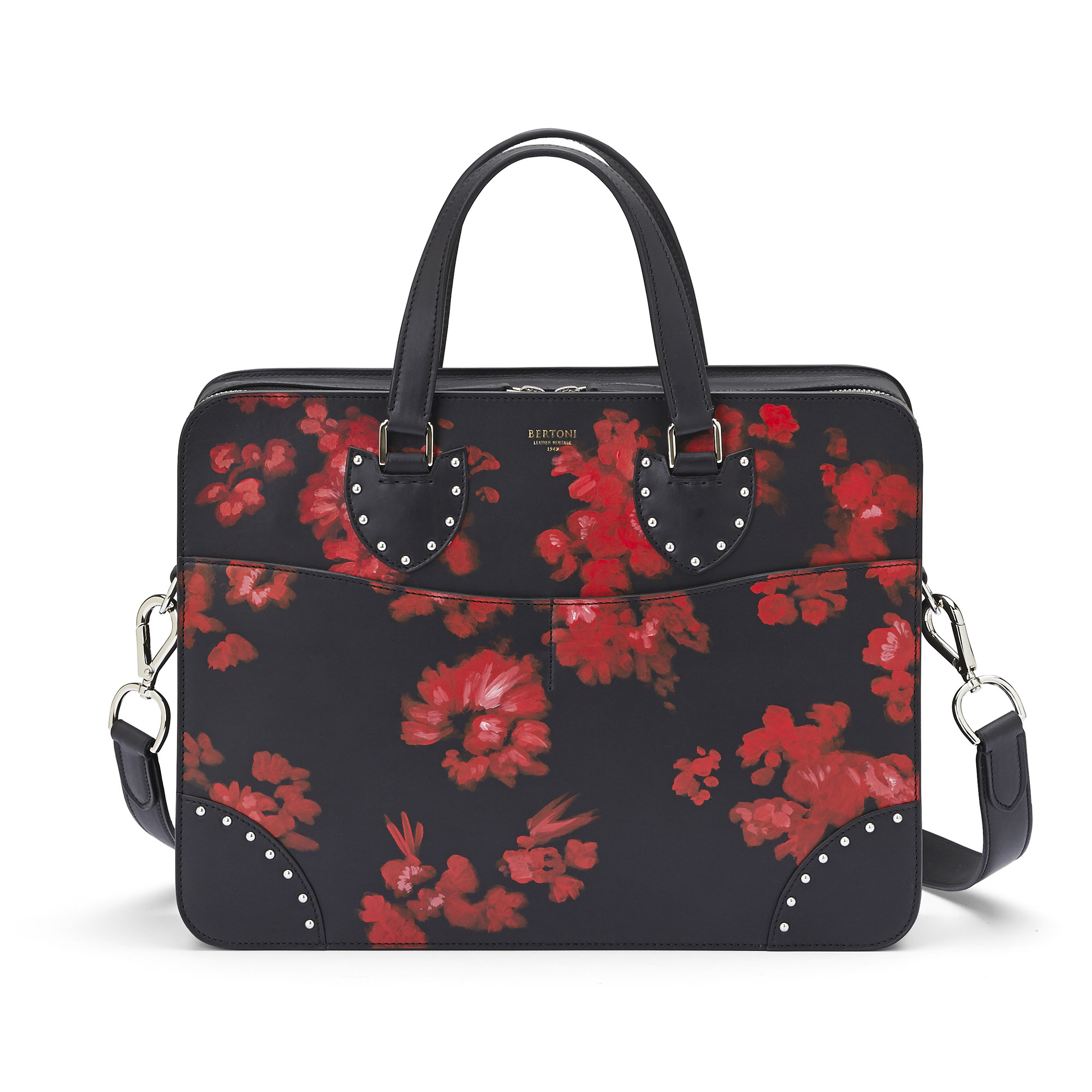 The black with red flowers french calf Double Handle 37 by Bertoni 1949 03