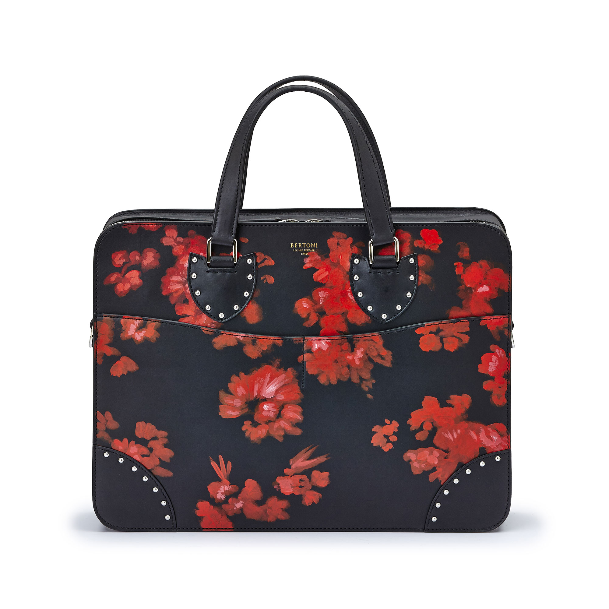 The black with red flowers french calf Double Handle 37 by Bertoni 1949 01