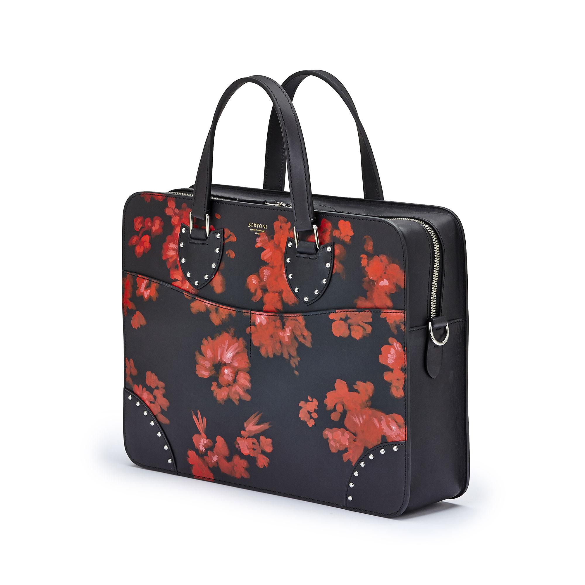 The black with red flowers french calf Double Handle 37 by Bertoni 1949 02