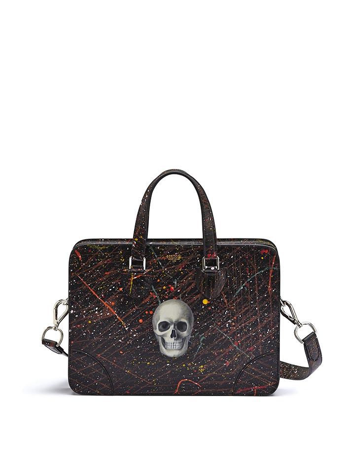 The black with skull french calf Double Handle 37 by Bertoni 1949