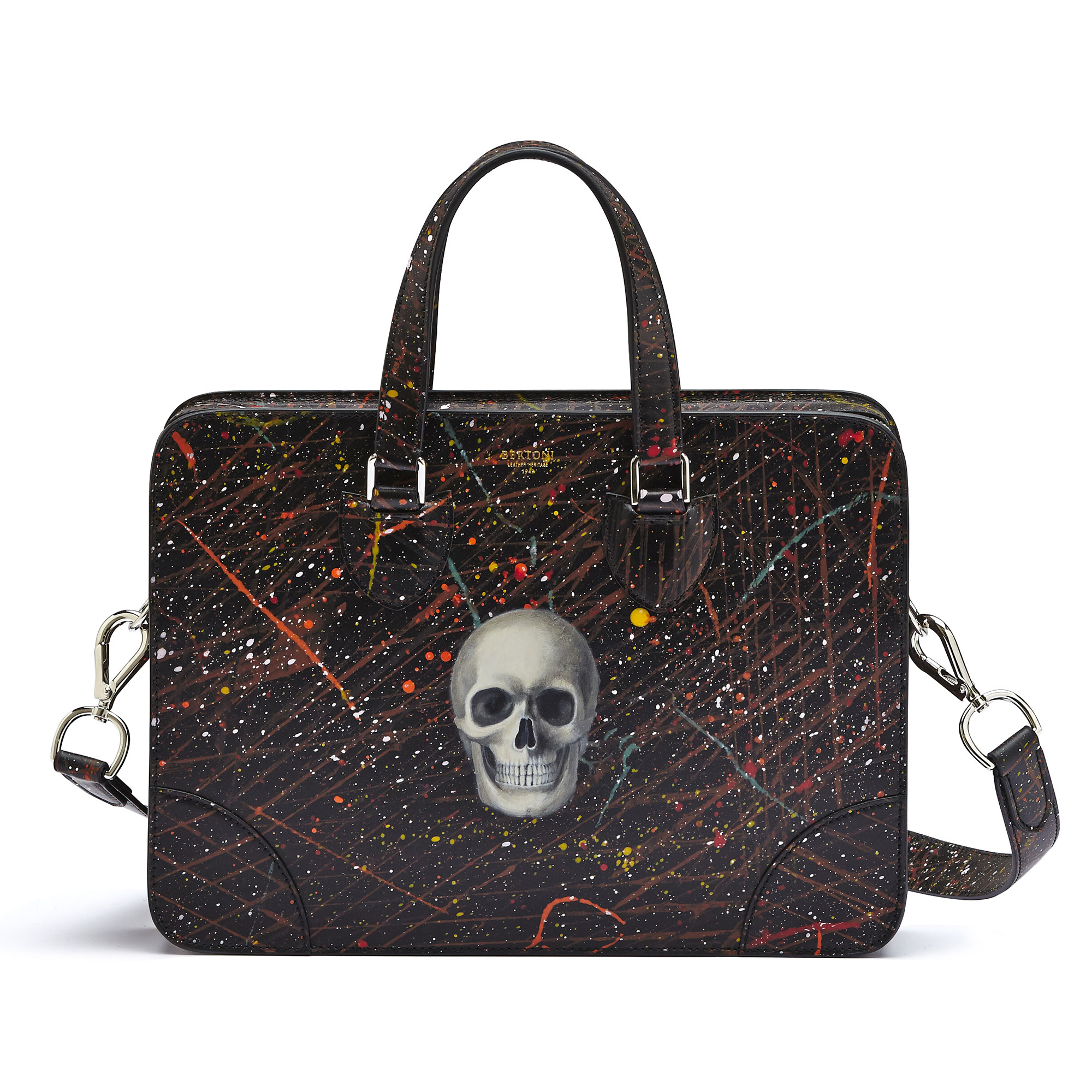The black with skull french calf Double Handle 37 by Bertoni 1949 04