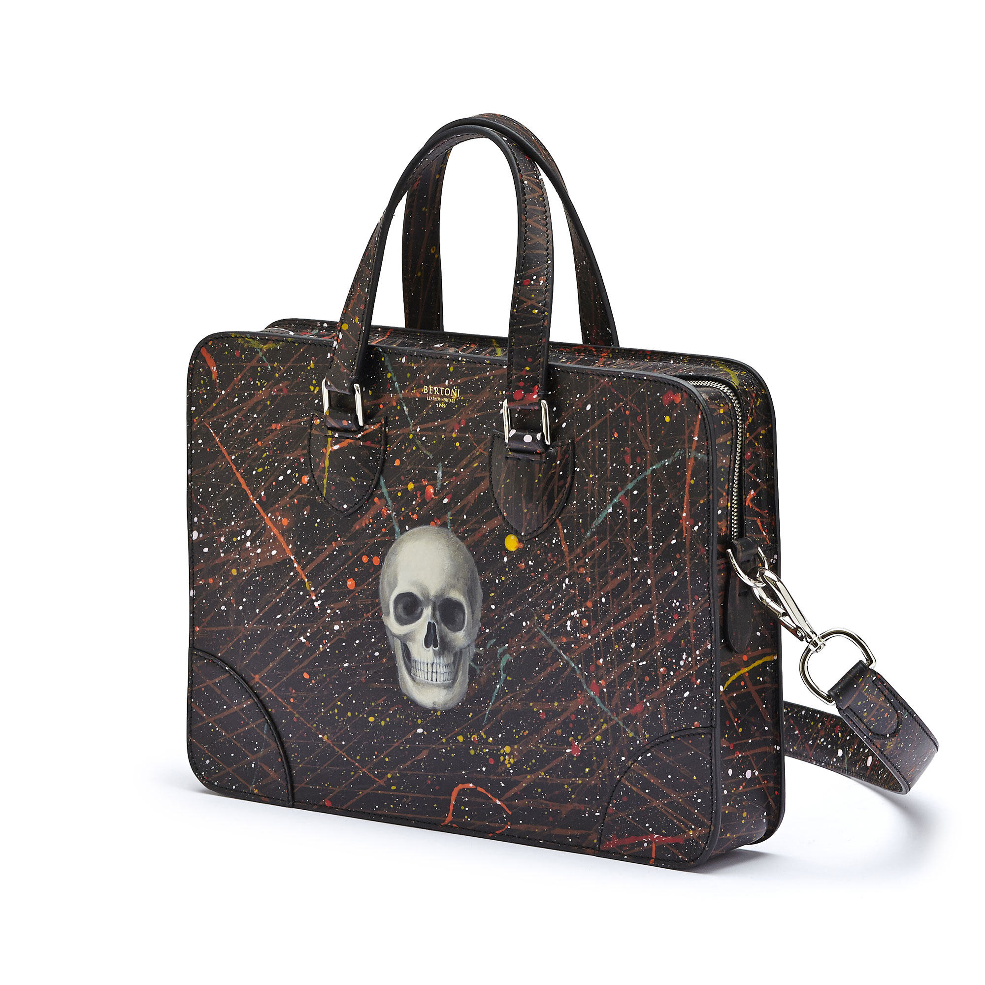 The black with skull french calf Double Handle 37 by Bertoni 1949 03