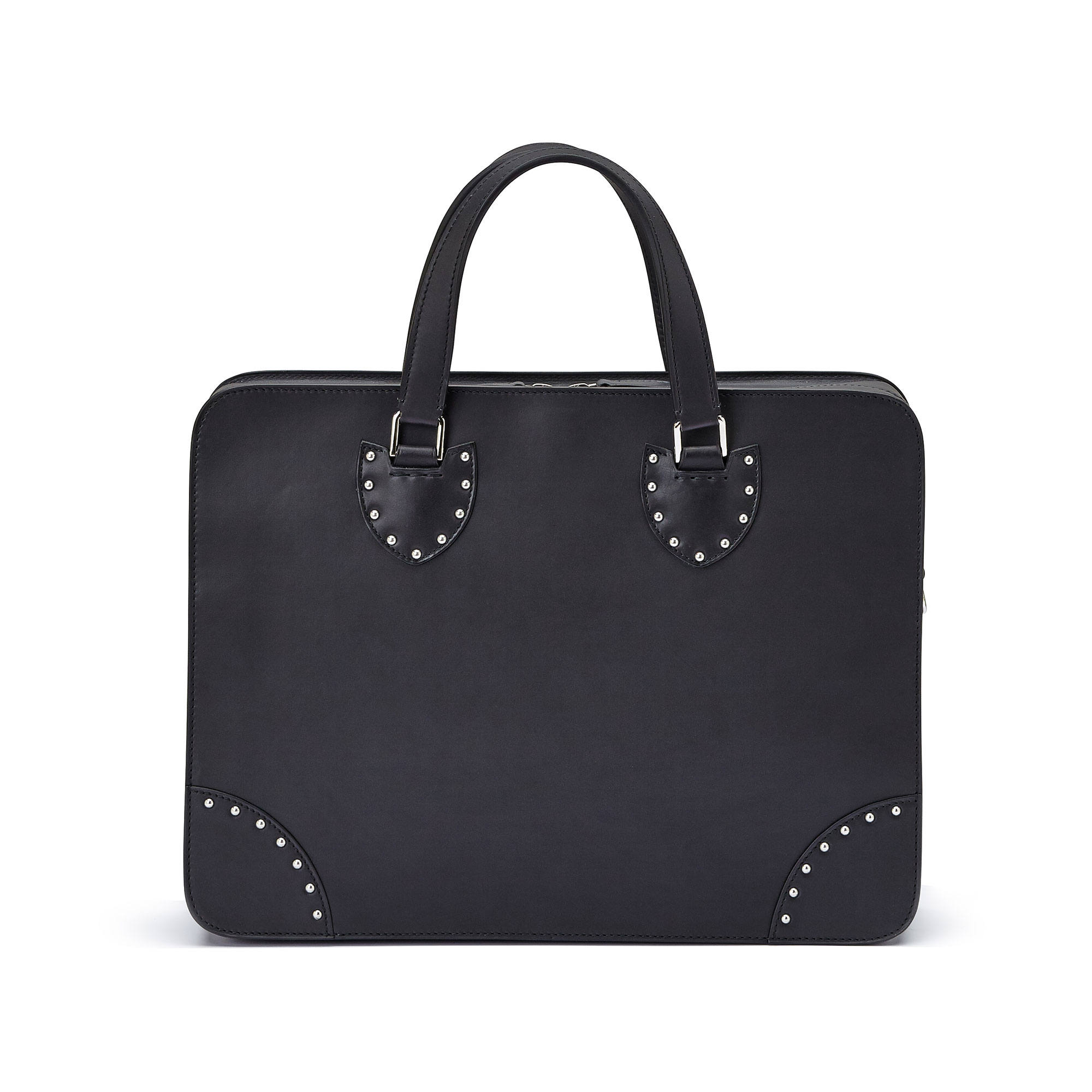 The black with studded french calf Double Handle 40 by Bertoni 1949 01
