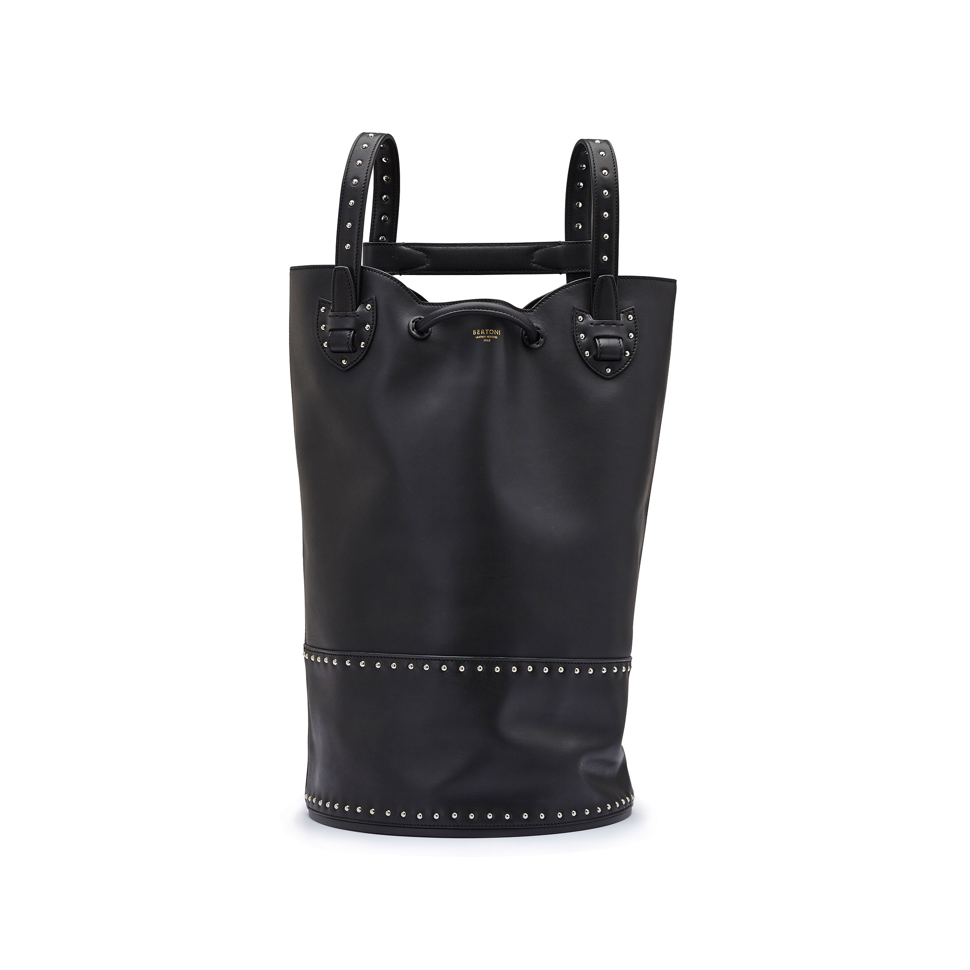 The black with studded french calf Marine Sac by Bertoni 1949 01