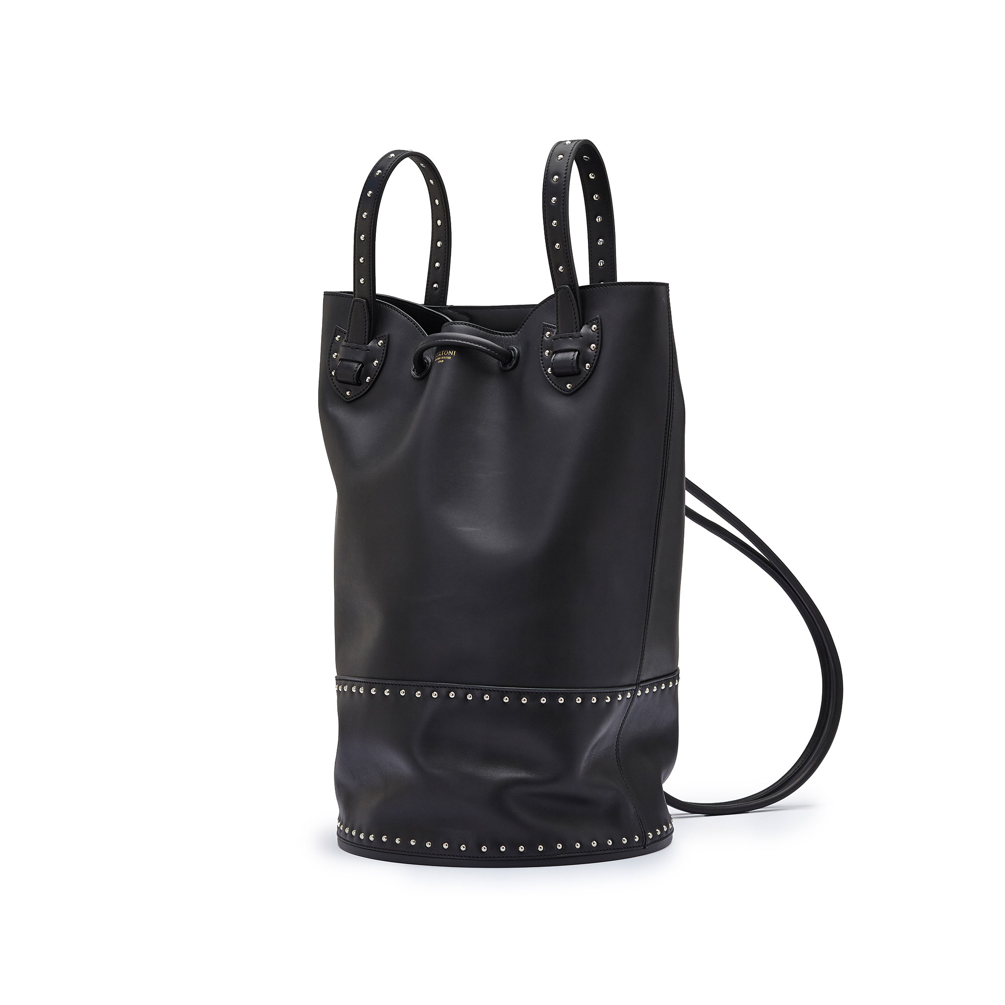 The black with studded french calf Marine Sac by Bertoni 1949 02