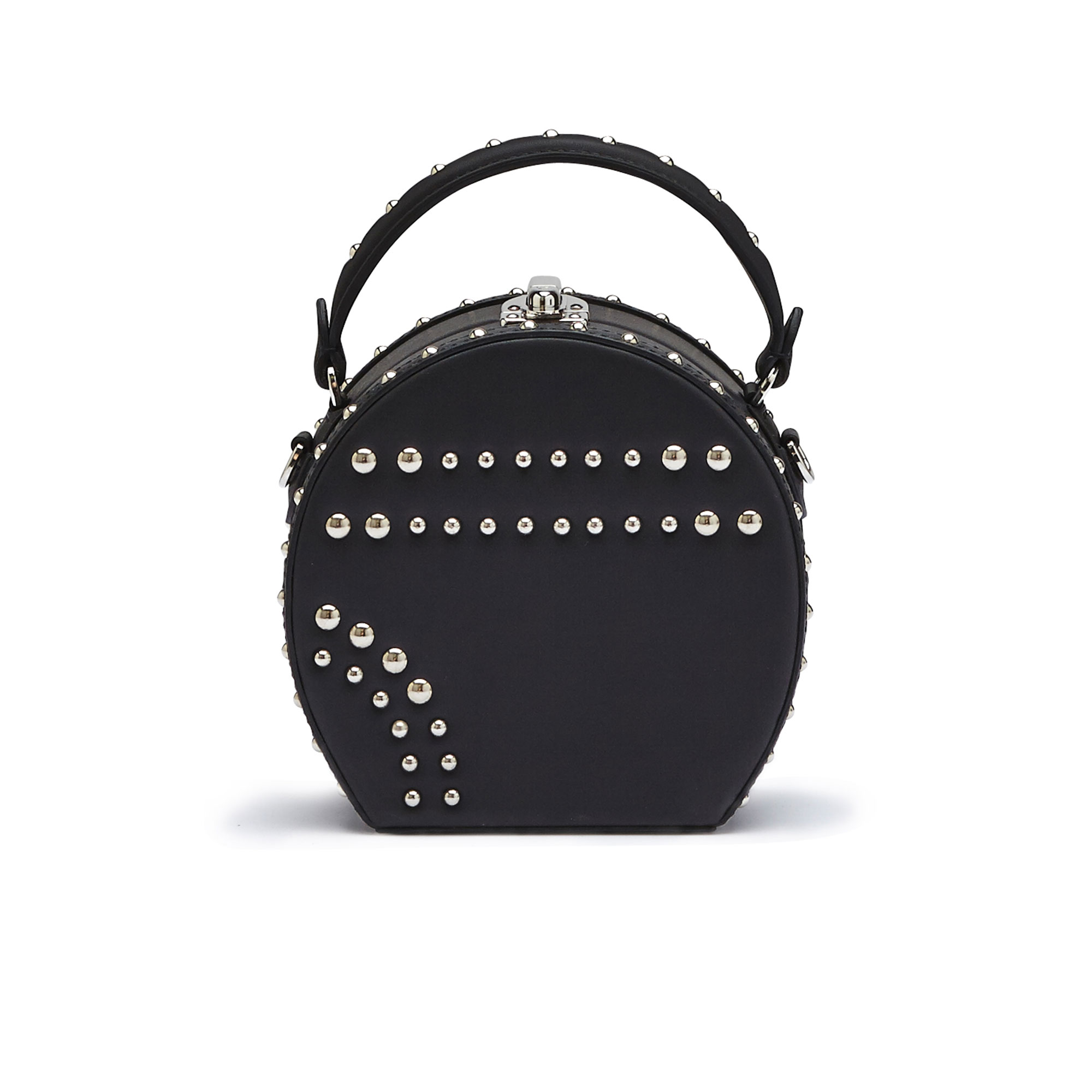 The black french calf Mini Bertoncina with studded bag by Bertoni 1949 01