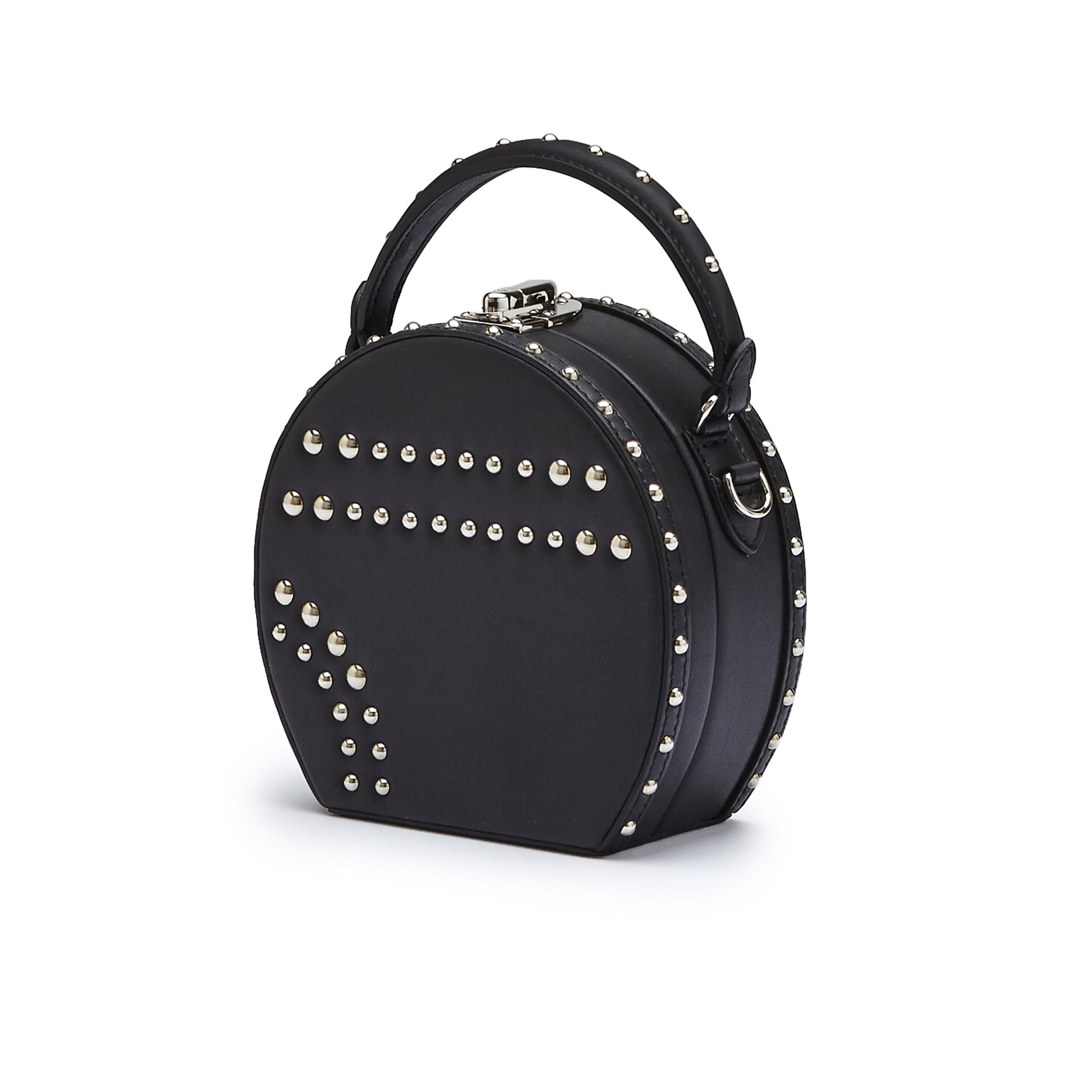 The black french calf Mini Bertoncina with studded bag by Bertoni 1949 02