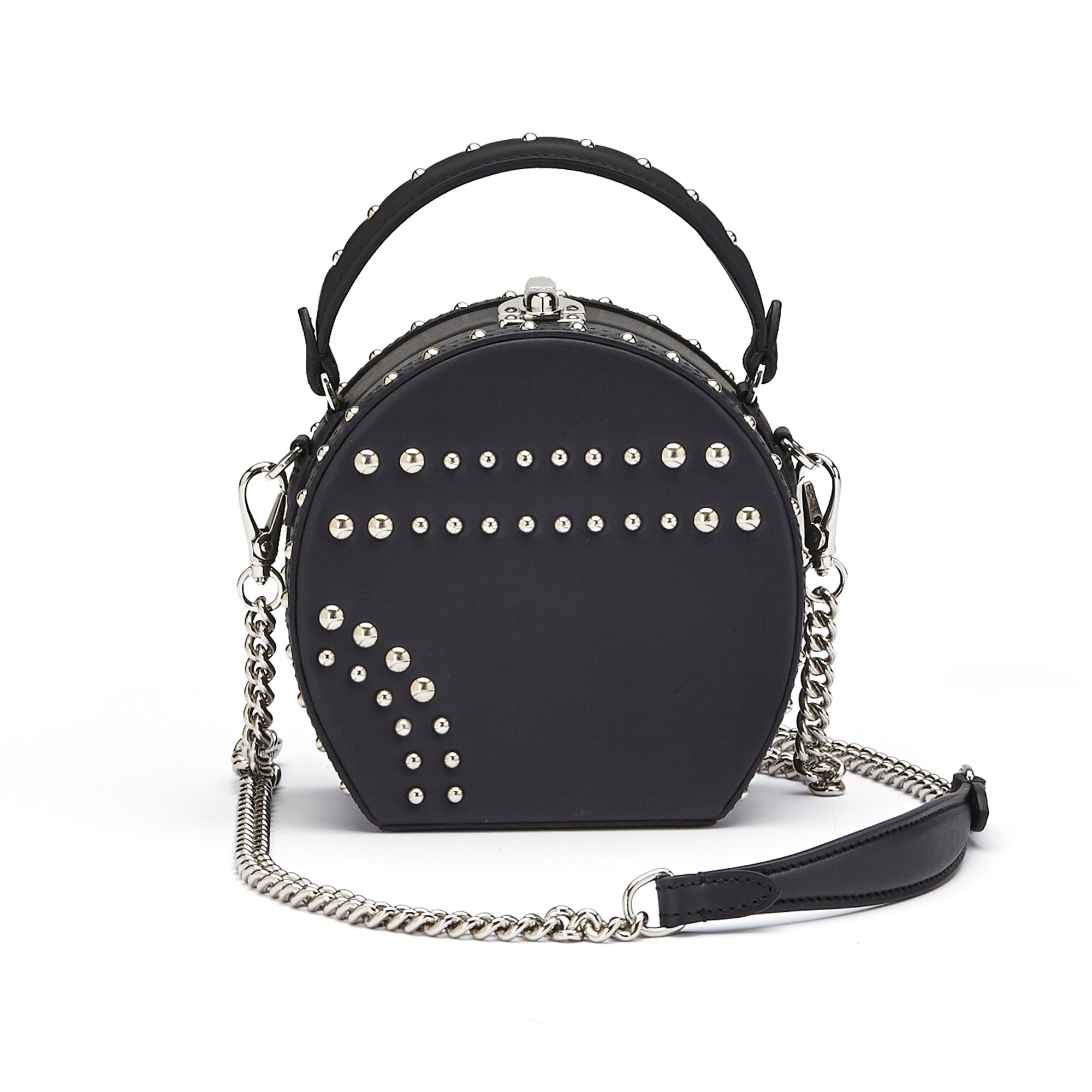 The black french calf Mini Bertoncina with studded bag by Bertoni 1949 03