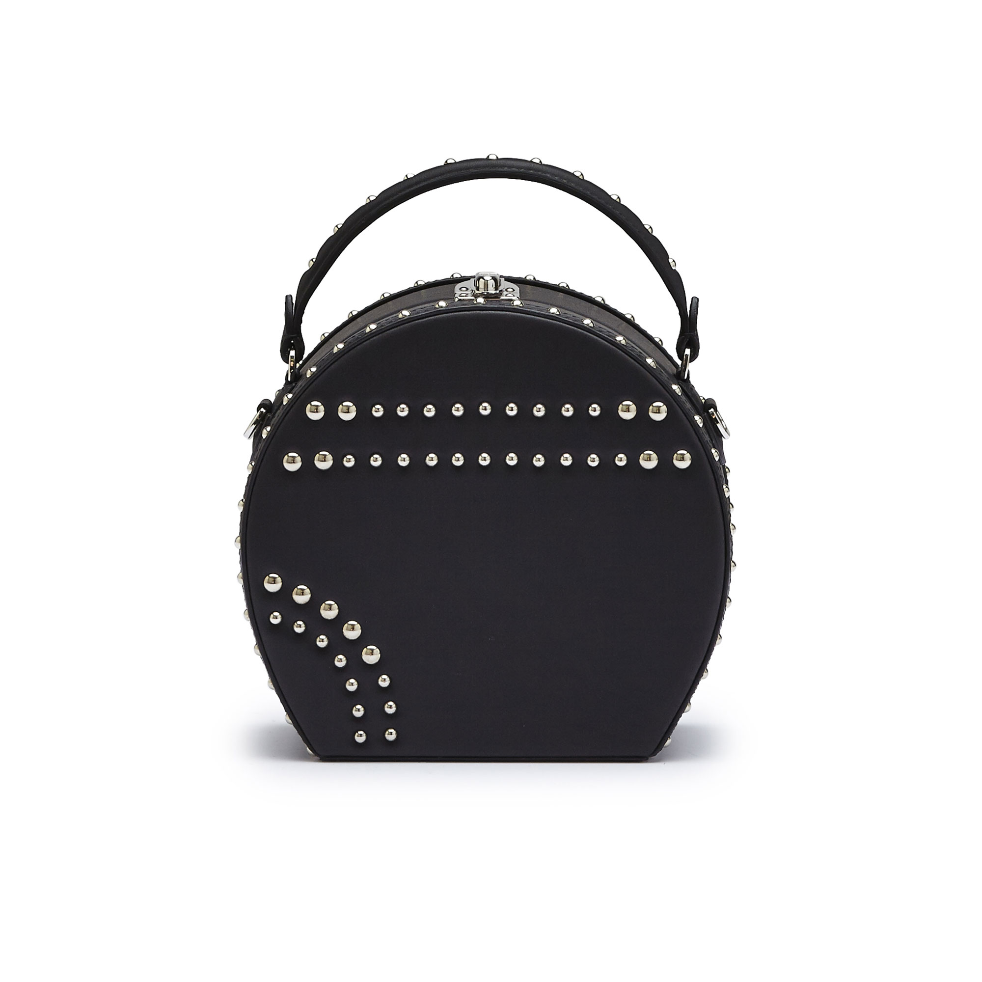 The black french calf Regular Bertoncina with studded bag by Bertoni 1949 01