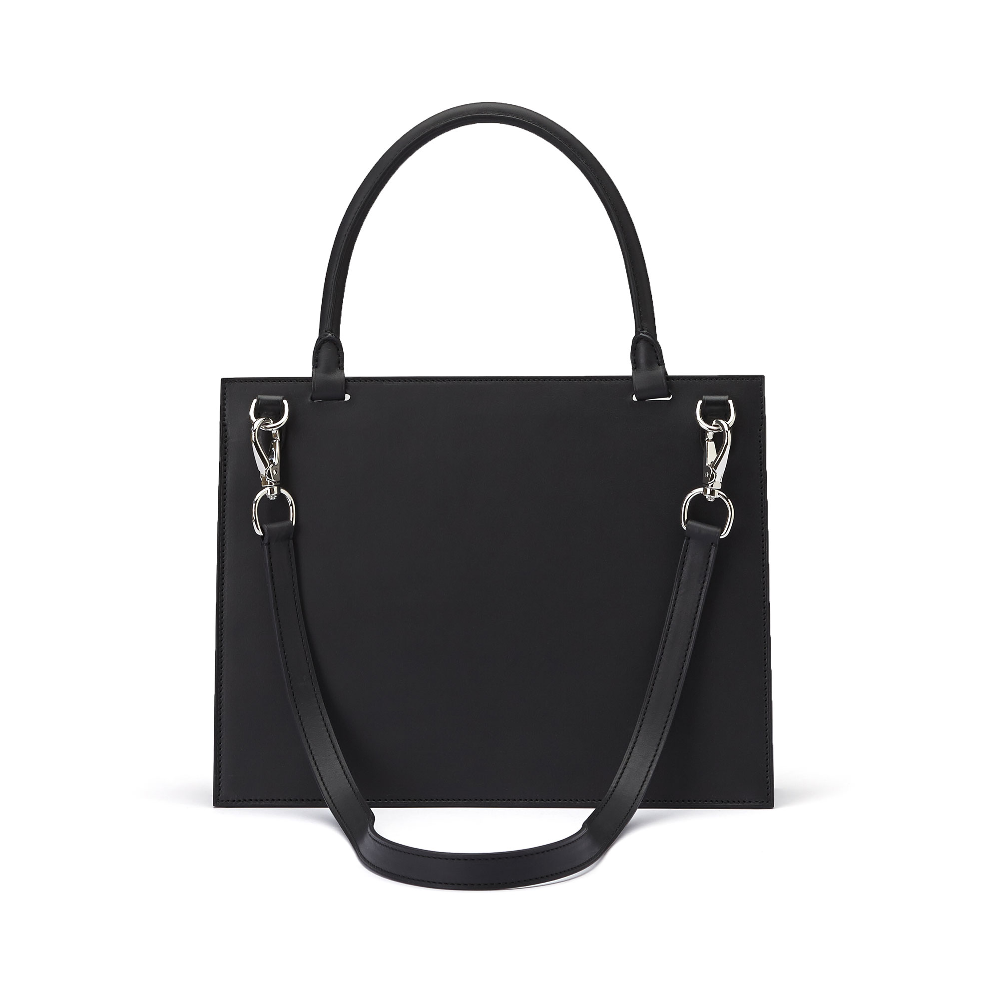 The black with studs french calf Dafne bag by Bertoni 1949 03