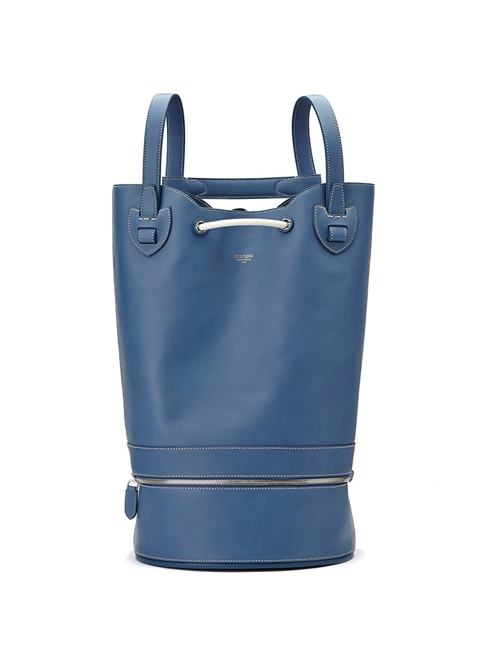 The blue french calf Marine Sac by Bertoni 1949