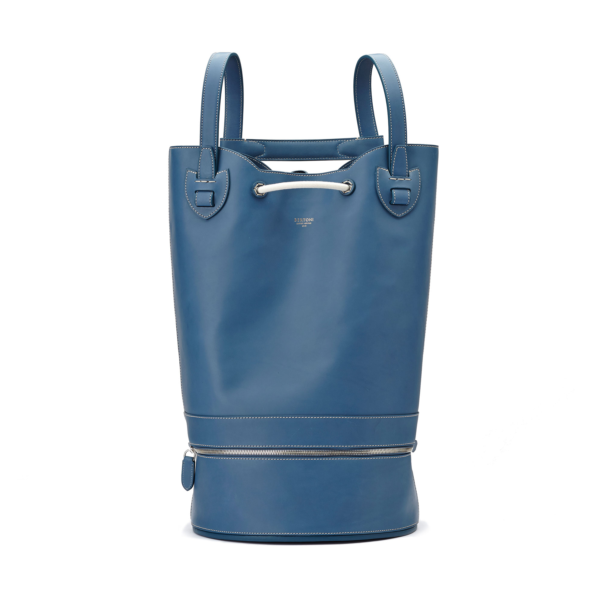 The blue french calf Marine Sac by Bertoni 1949 01