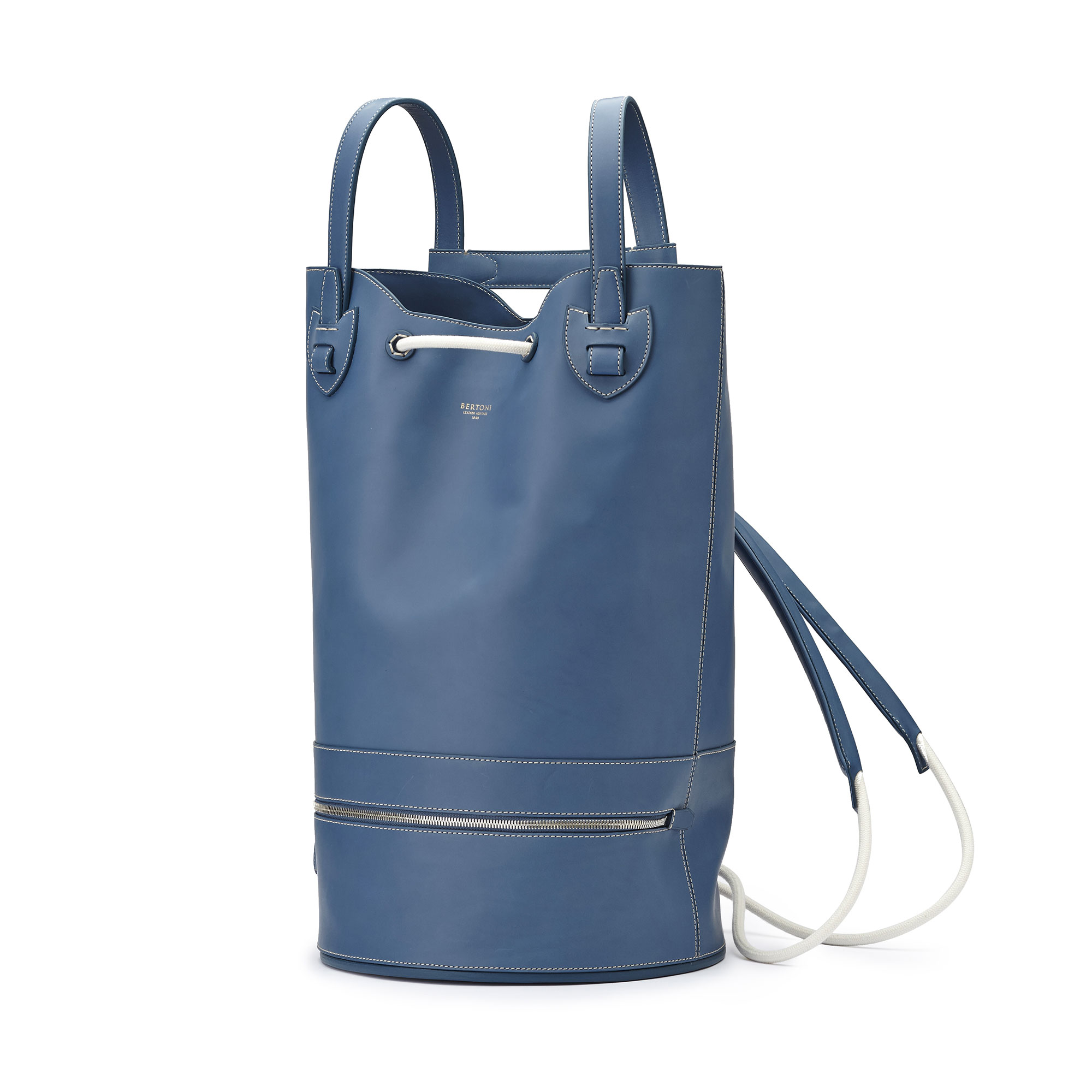 The blue french calf Marine Sac by Bertoni 1949 02