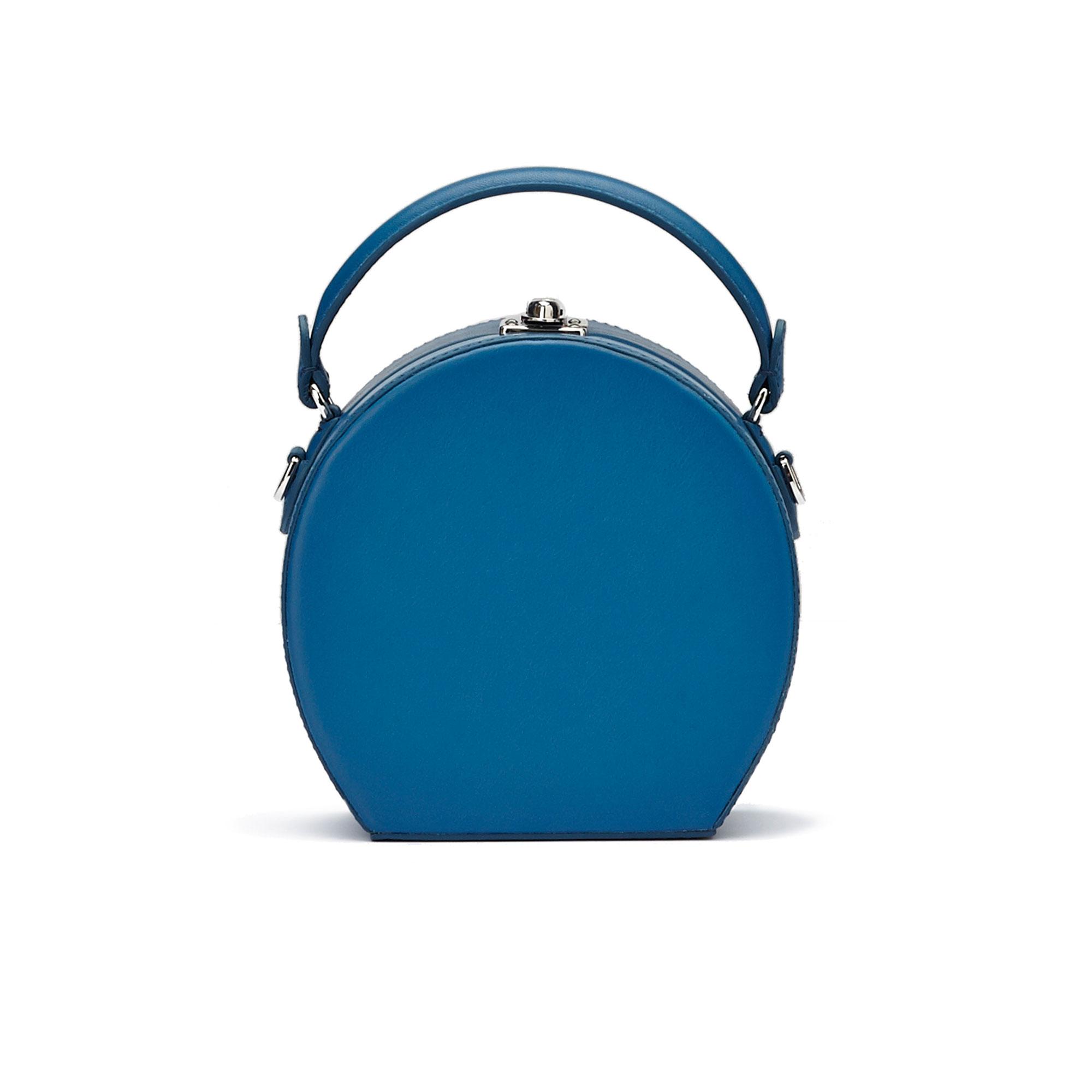 The blue french calf Mini Bertoncina bag by Bertoni 1949 01