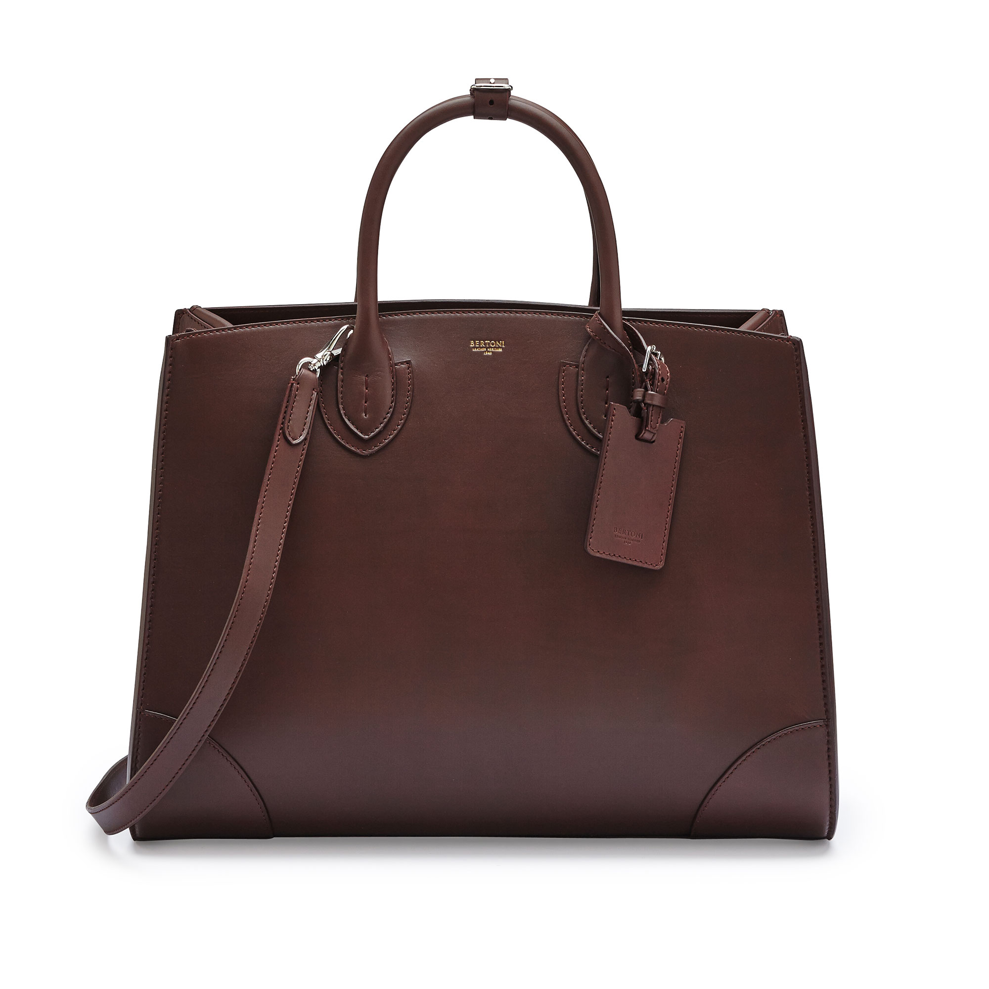 The bordeaux french calf Maxi Darcy bag by Bertoni 1949 01