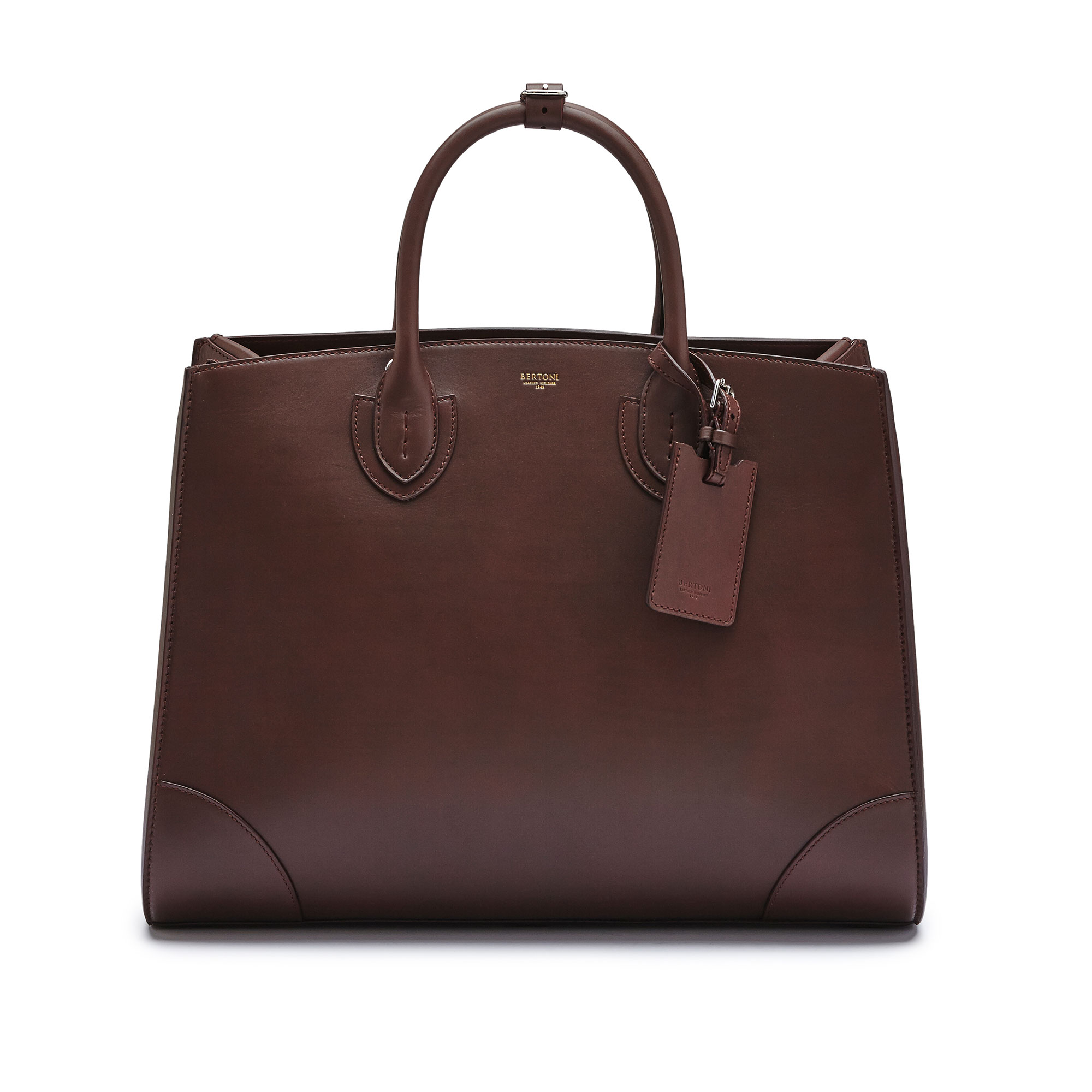 The bordeaux french calf Maxi Darcy bag by Bertoni 1949 02