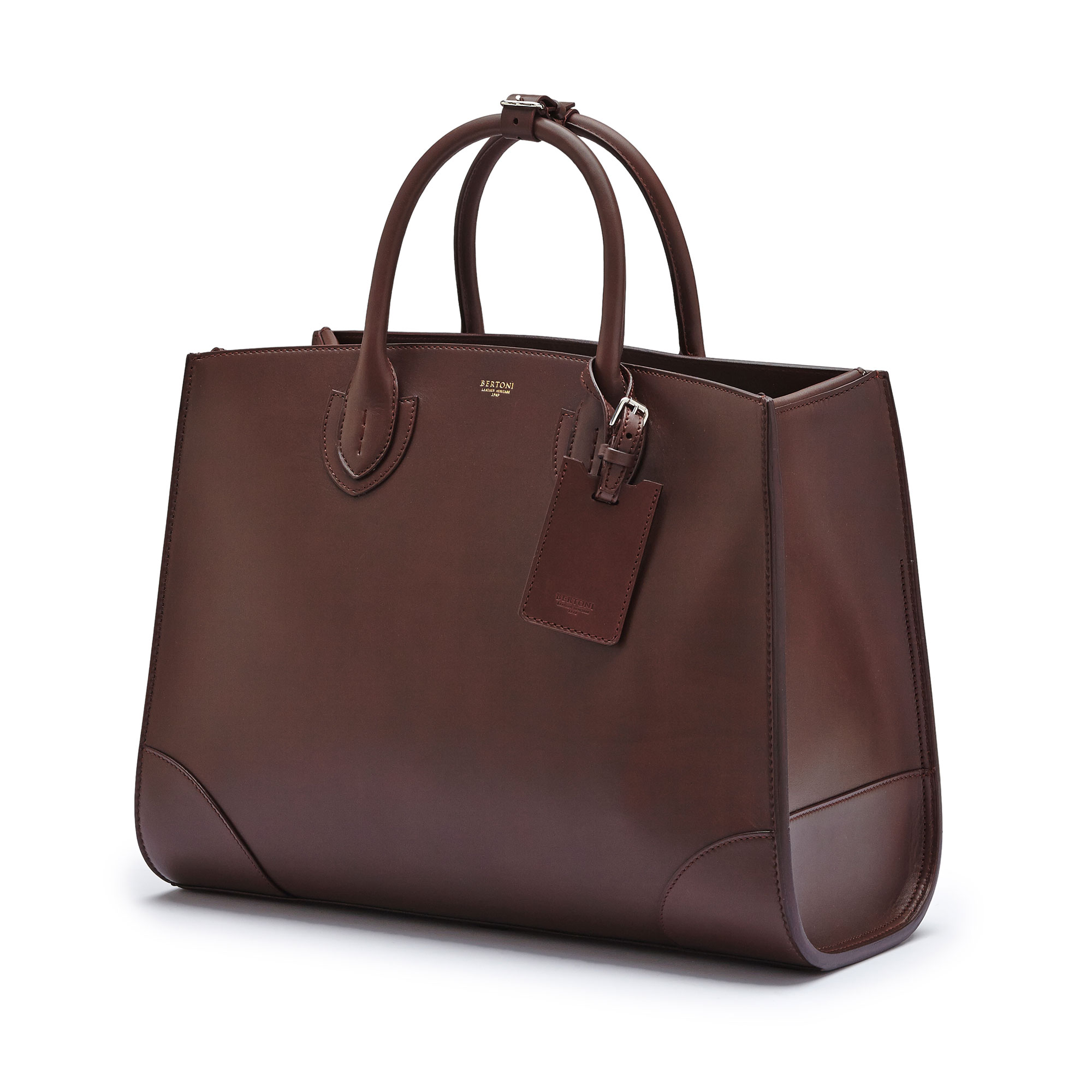 The bordeaux french calf Maxi Darcy bag by Bertoni 1949 03