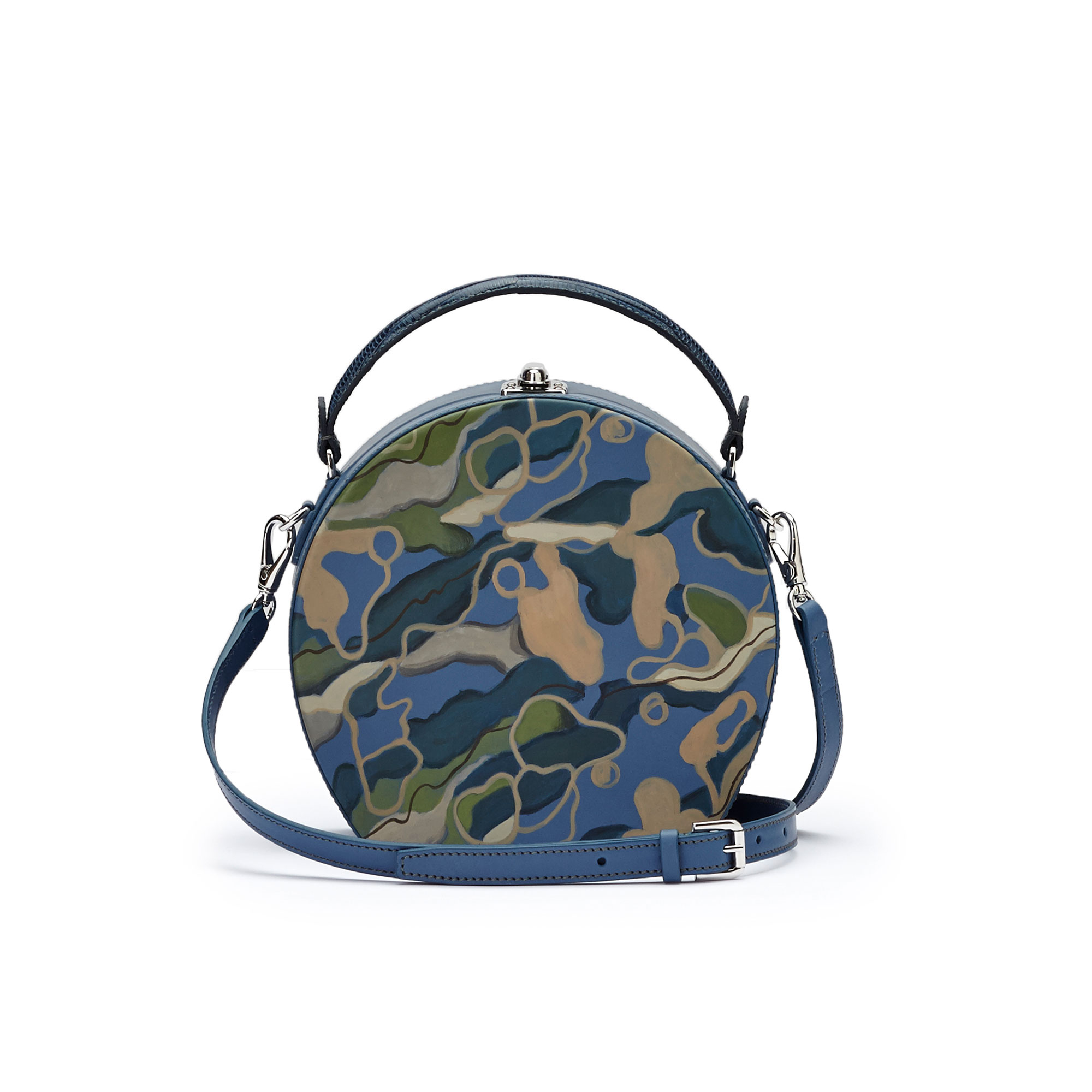 The hand-painted camouflage effect soft calf Regular Bertoncina bag by Bertoni 1949 02