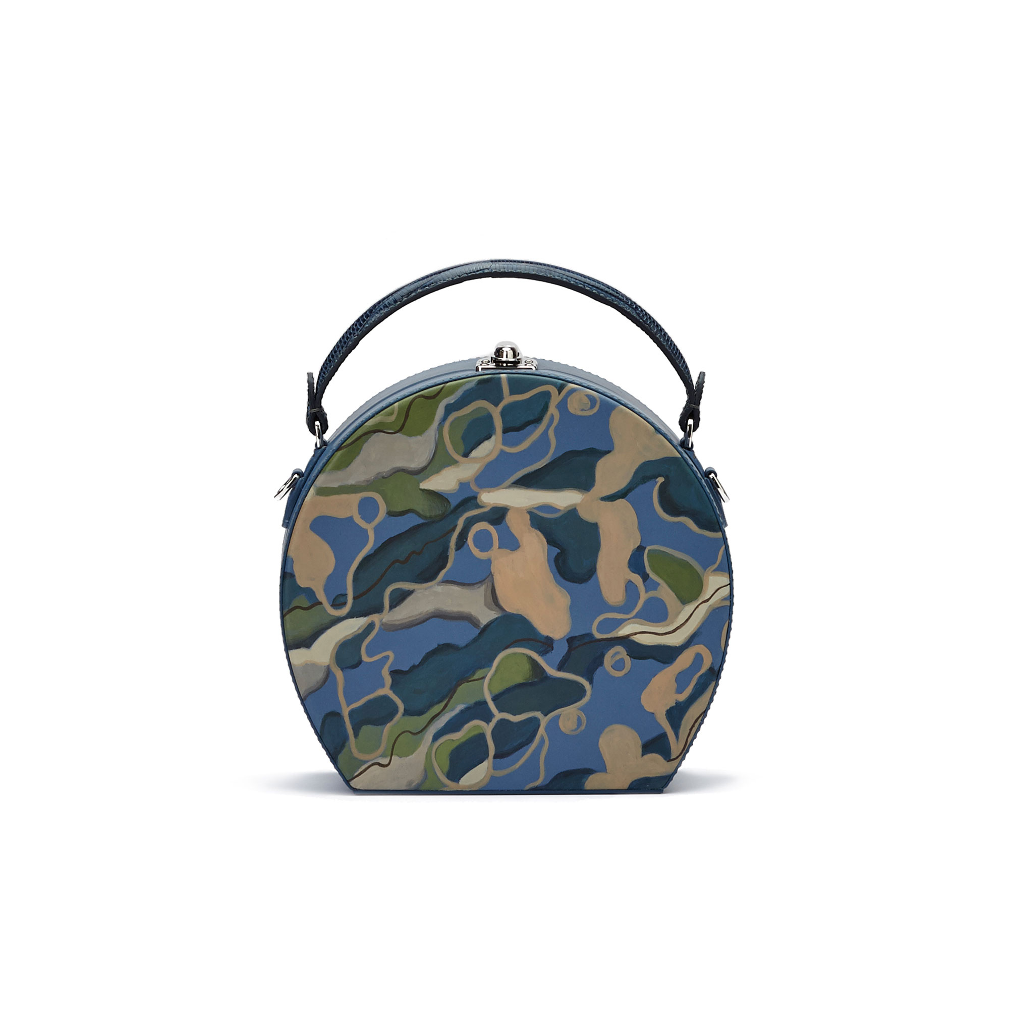 The hand-painted camouflage effect soft calf Regular Bertoncina bag by Bertoni 1949 01
