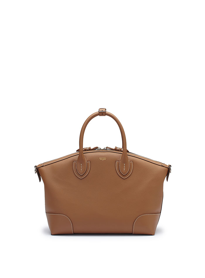 The cognac soft calf Anija bag by Bertoni 1949