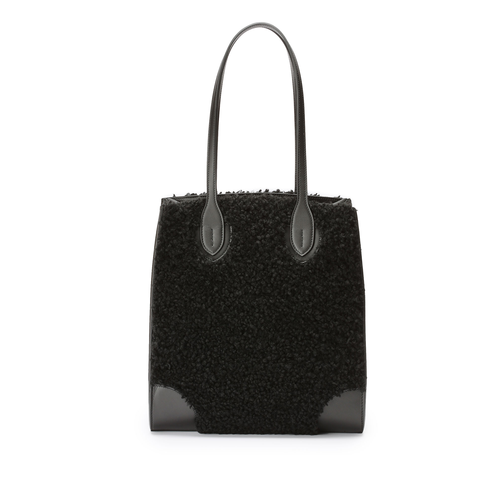 Darcy-Tote-black-shearling-bag-Bertoni-1949