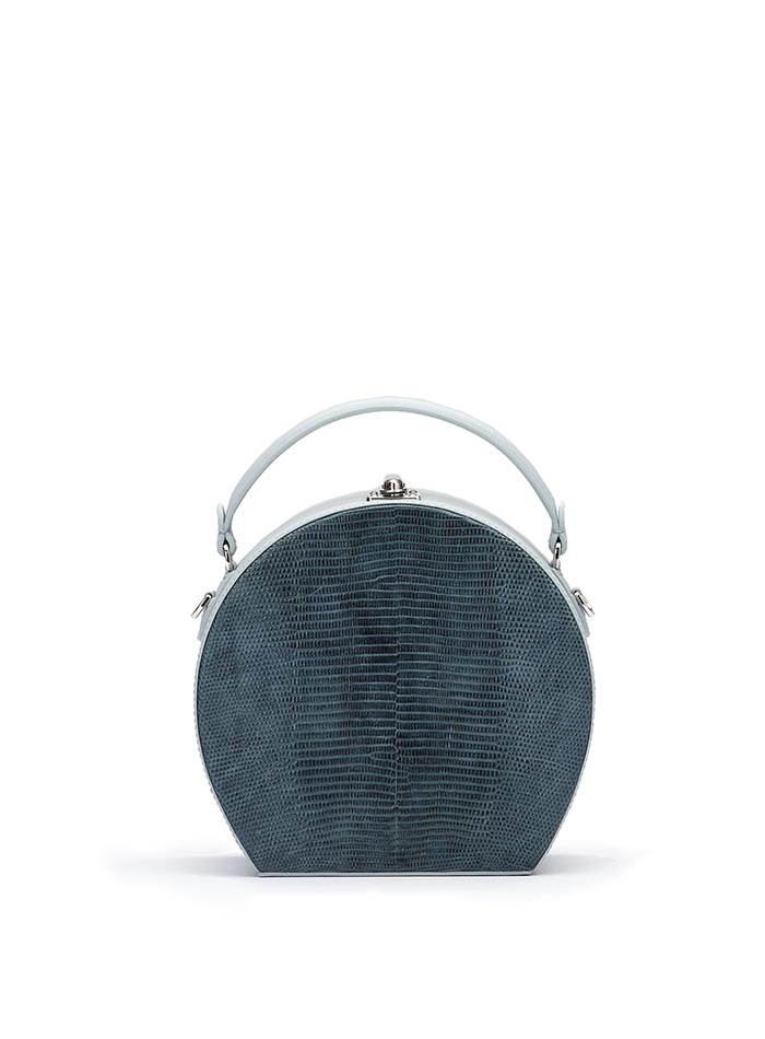 The denim french calf lizard Regular Bertoncina bag by Bertoni 1949